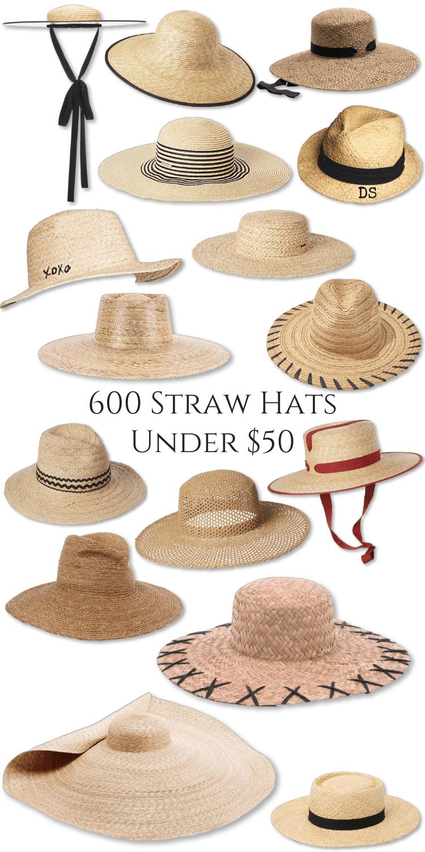 600 Straw Hats Under $50 Raffia Sun Hats Vacation Wide Brim Pool Hat Floppy Oversized