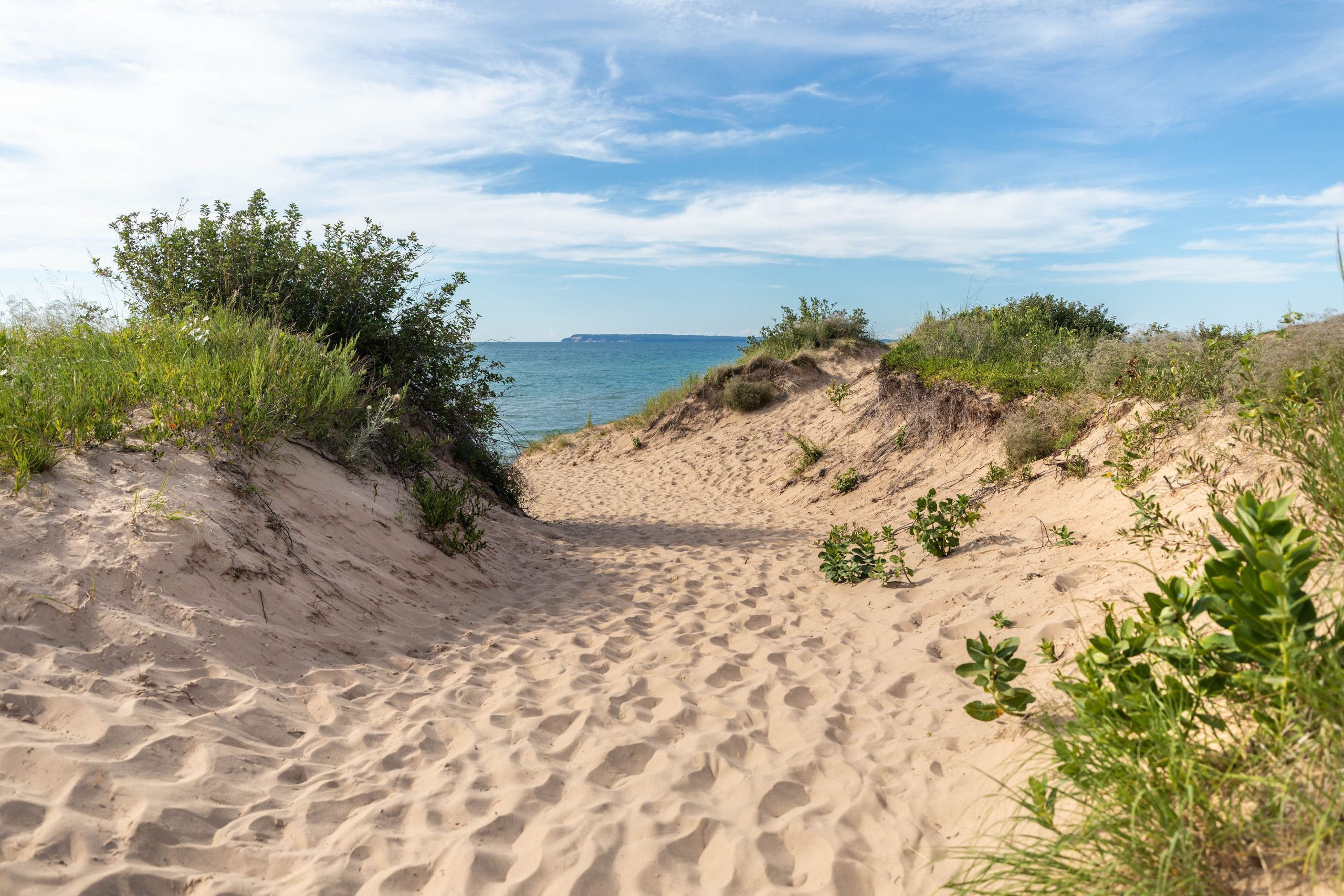 The Beach at Sleeping Bear Dunes National Lakeshore Incredible Hiking, Swimming, and Birding Most Beautiful Place in America by Annie Fairfax