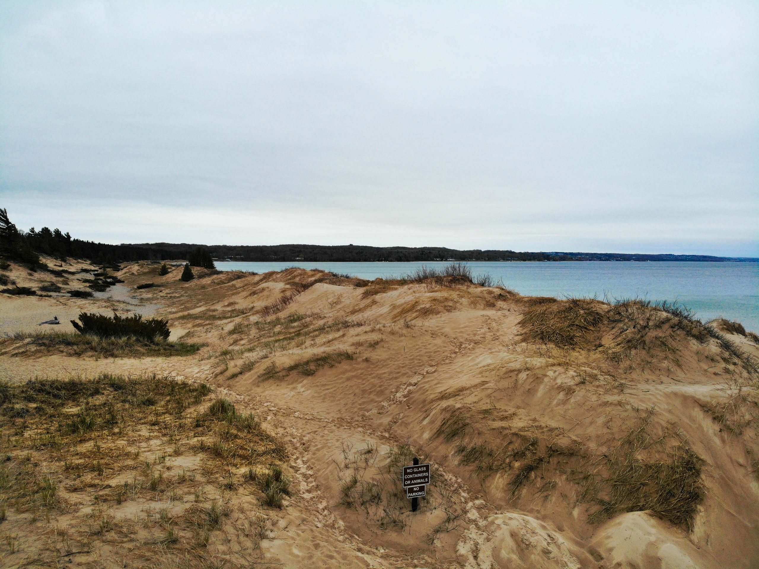 Petoskey State Park Beach on a rainy day by Annie Fairfax Best Michigan Beaches Travel Guide