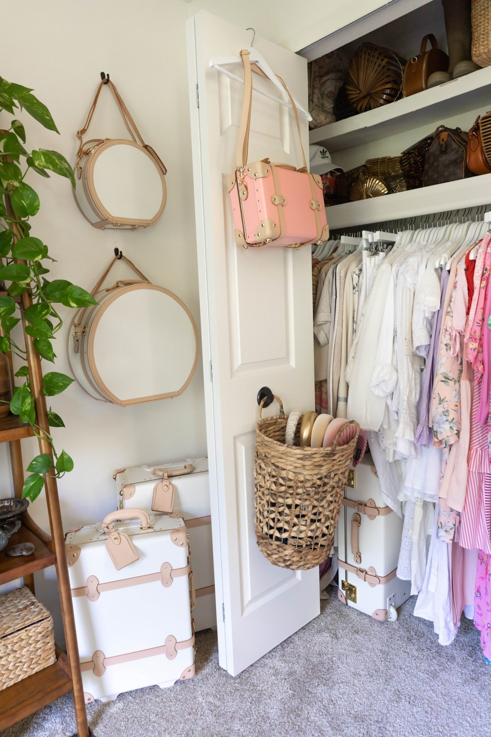 My Home Office Tour Steamline Luggage and Color Coordinated Closet