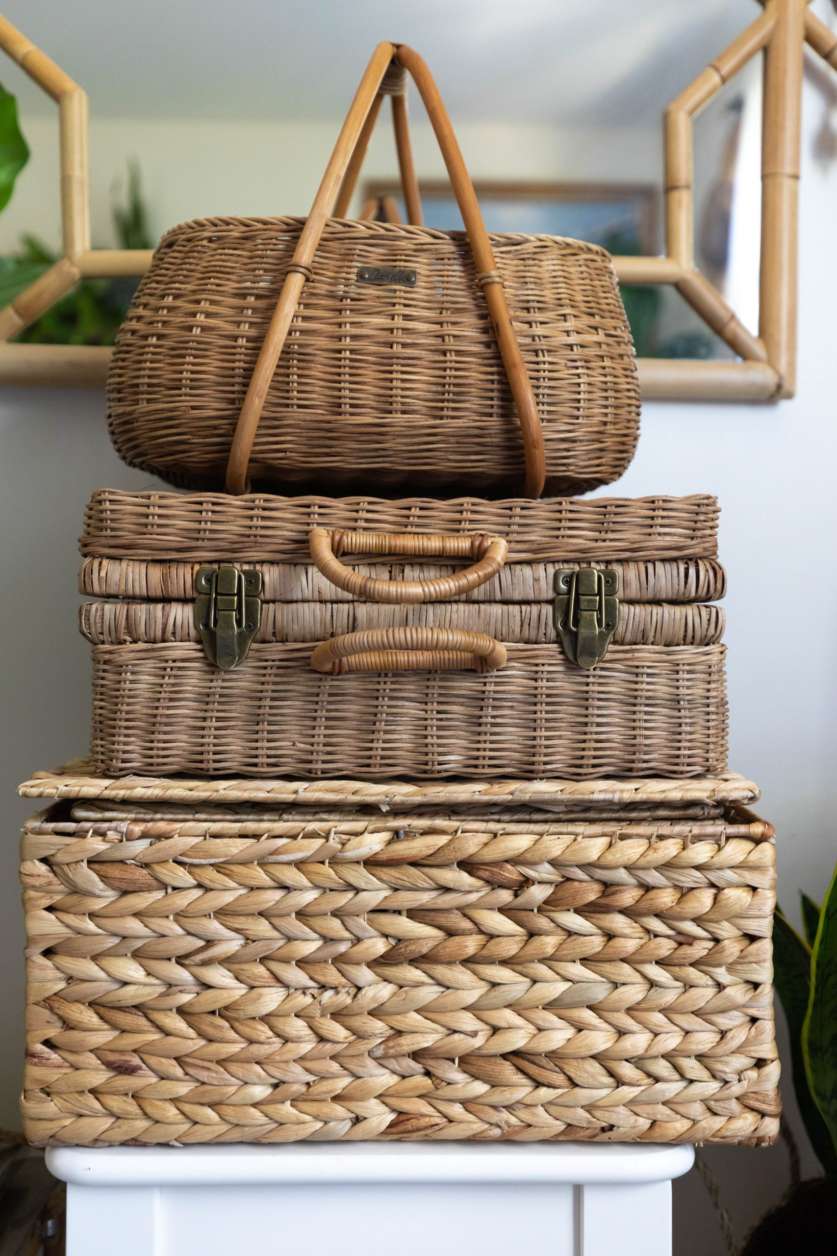 My Home Office Tour Vintage Basket Bags