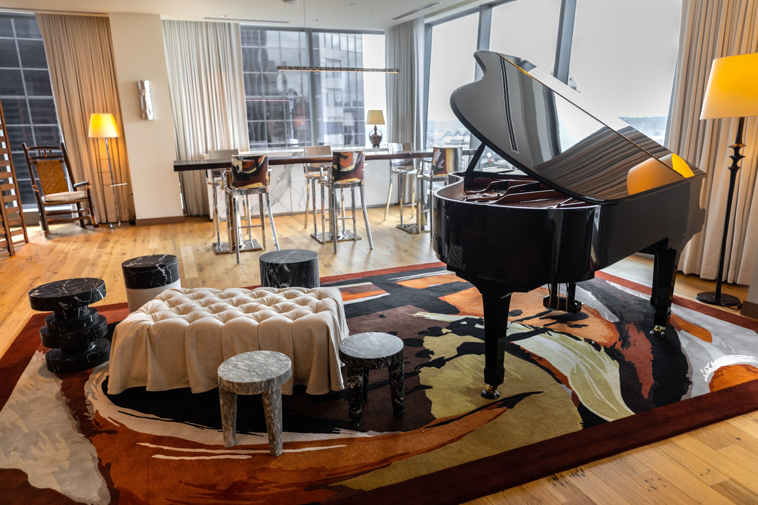 Lotte Hotel Seattle Grand Opening Presidential Suite in Seattle Washington by Annie Fairfax