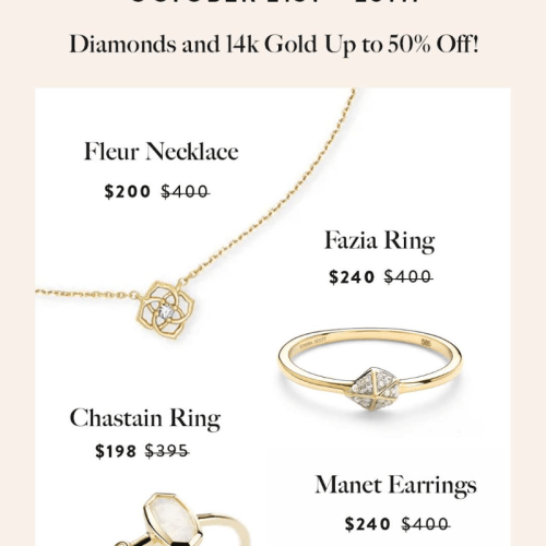 The First Ever Kendra Scott Fine Jewelry Sale is TODAY!