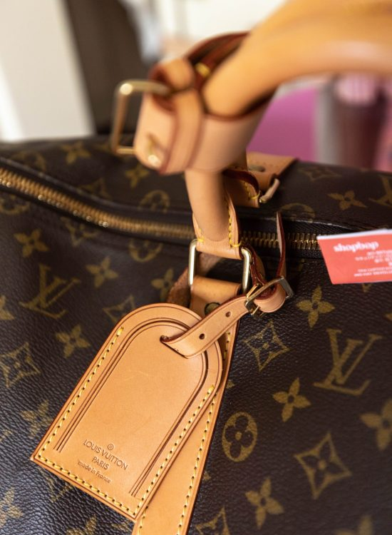Authentic Louis Vuitton Keepall Bandoulière 55 Monogram Duffle Bag Review from Shopbop Archive by Annie Fairfax