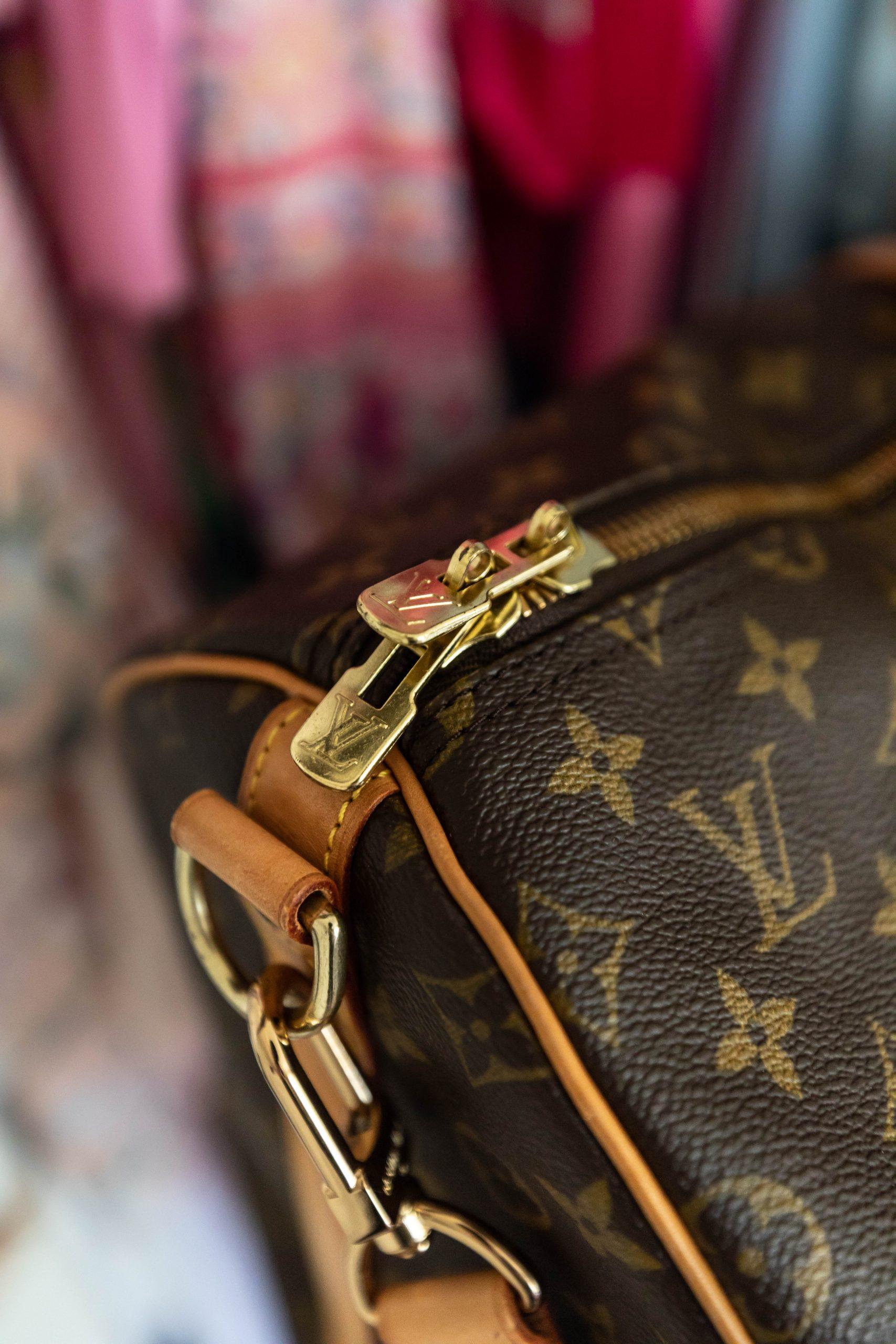 Authentic Louis Vuitton Keepall Bandoulière 55 Monogram Duffle Bag Review from Shopbop Archive by Annie Fairfax