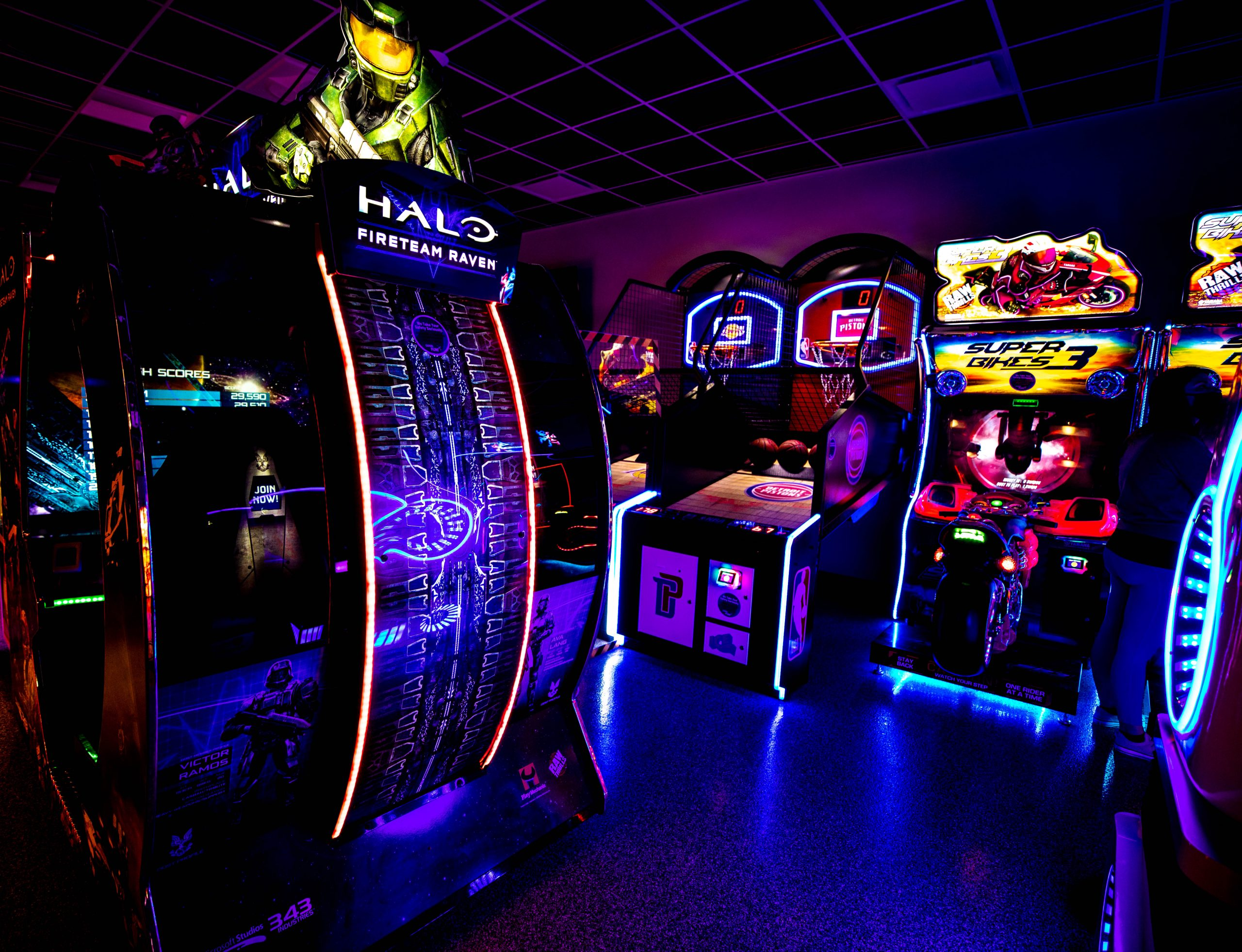 Arcade Games at The Den Inside Grand Traverse Resort in Acme Traverse City Michigan Photographed by Annie Fairfax