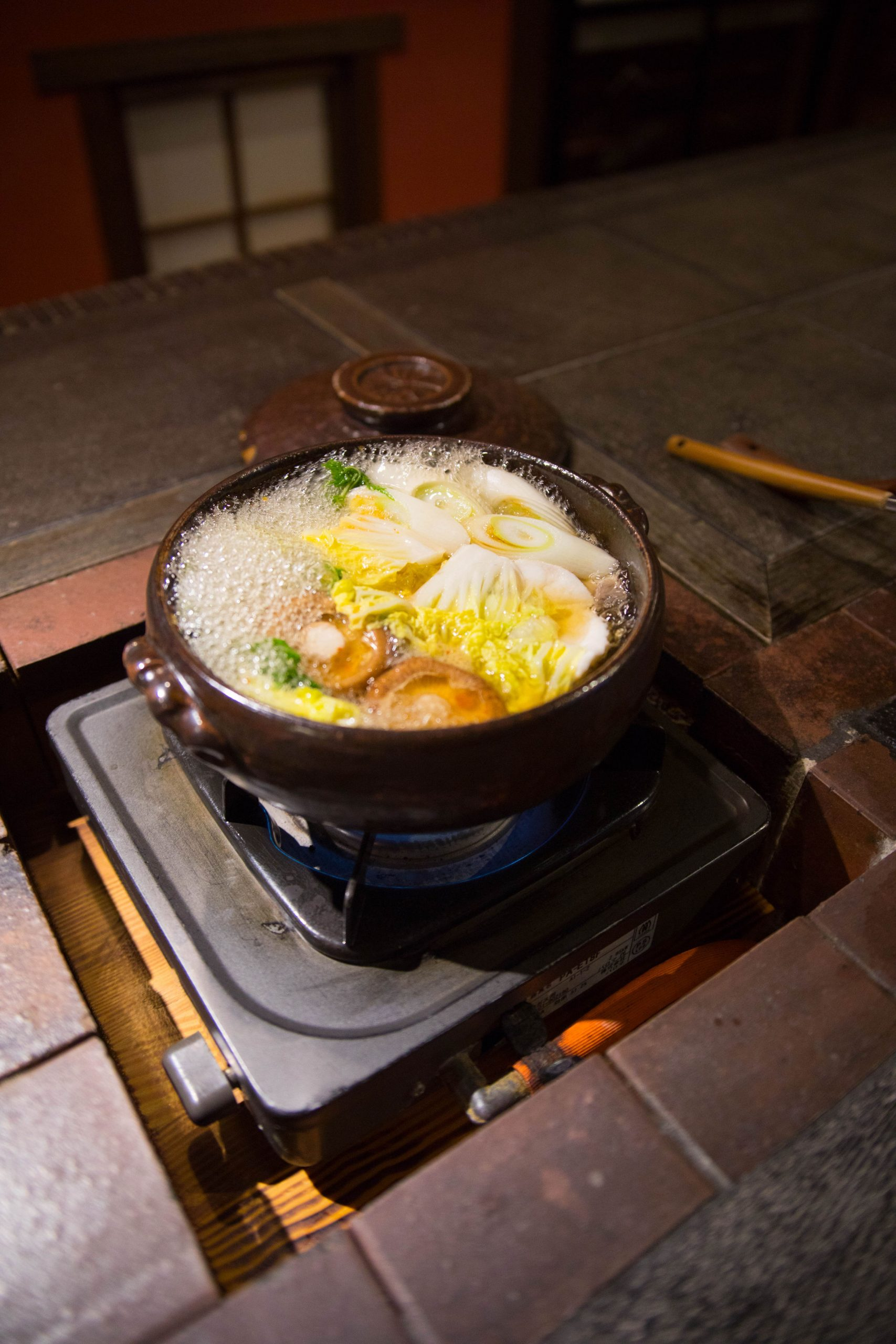 Nabemono Nabe Hotpot in Kurokawa Onsen, Japan by Annie Fairfax