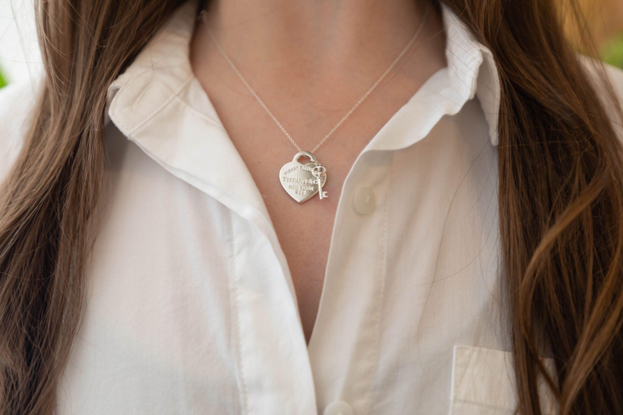 Tiffany & Co Heart Tag Necklace Worn by Annie Fairfax