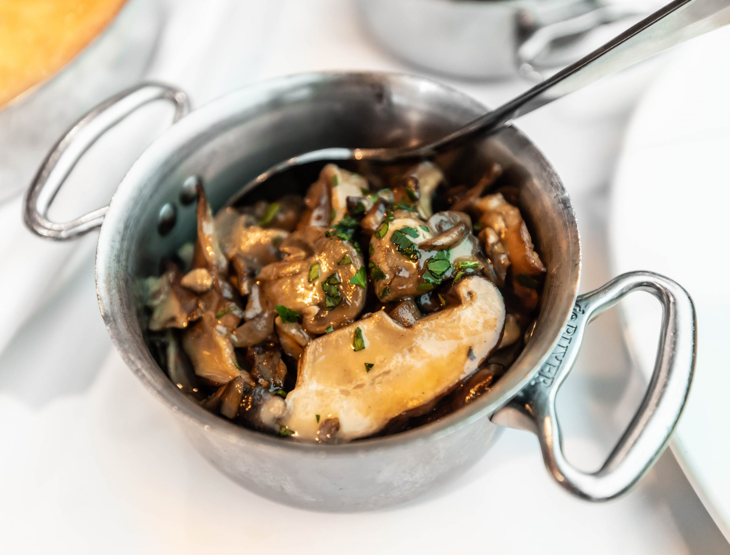 Sautéed Mushroom Blend at Joe Muer Seafood in Detroit Inside the GW Renaissance Center Fine Dining Michigan Luxury Restaurants of the World