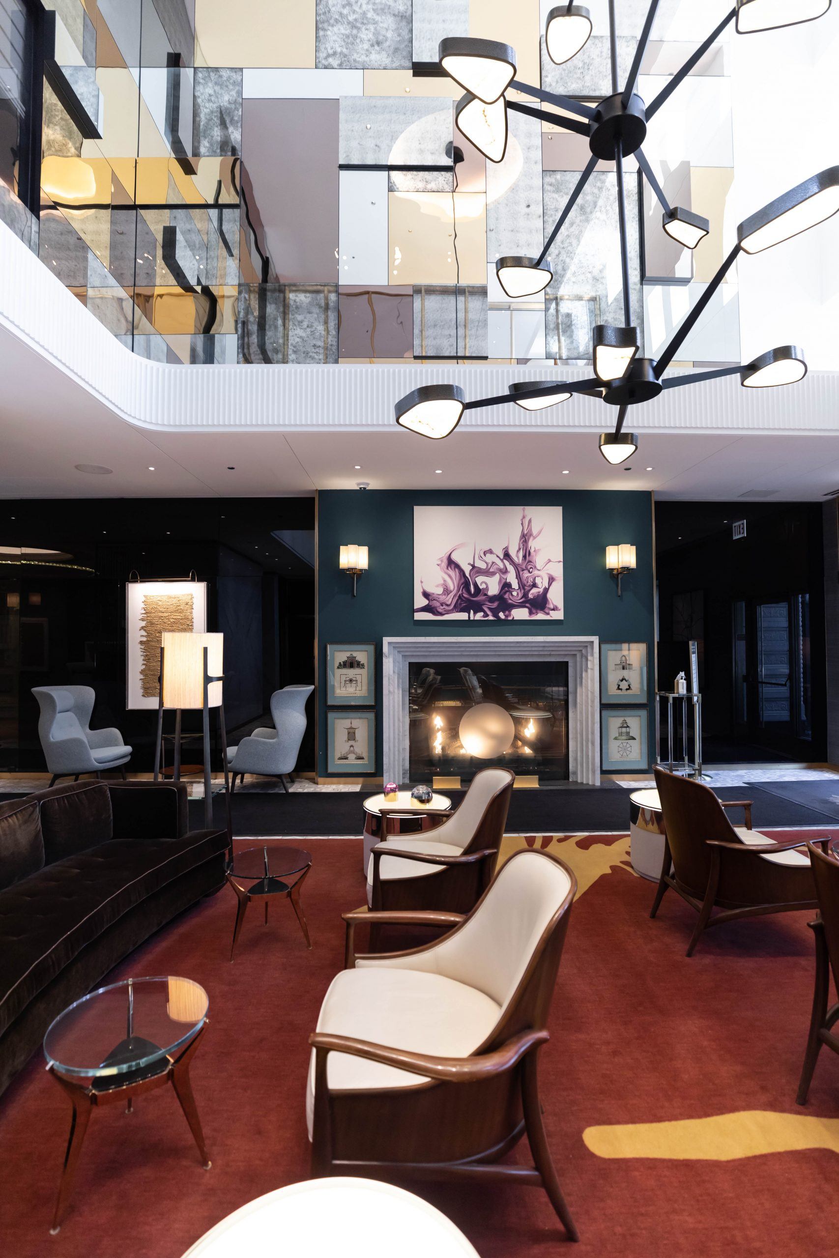 Lobby of Viceroy Chicago 5-Star Luxury Hotel in Historic Gold Coast District Illinois Midwest Luxury Hotels by Annie Fairfax Where to Stay in Chicago Streamline Luggage