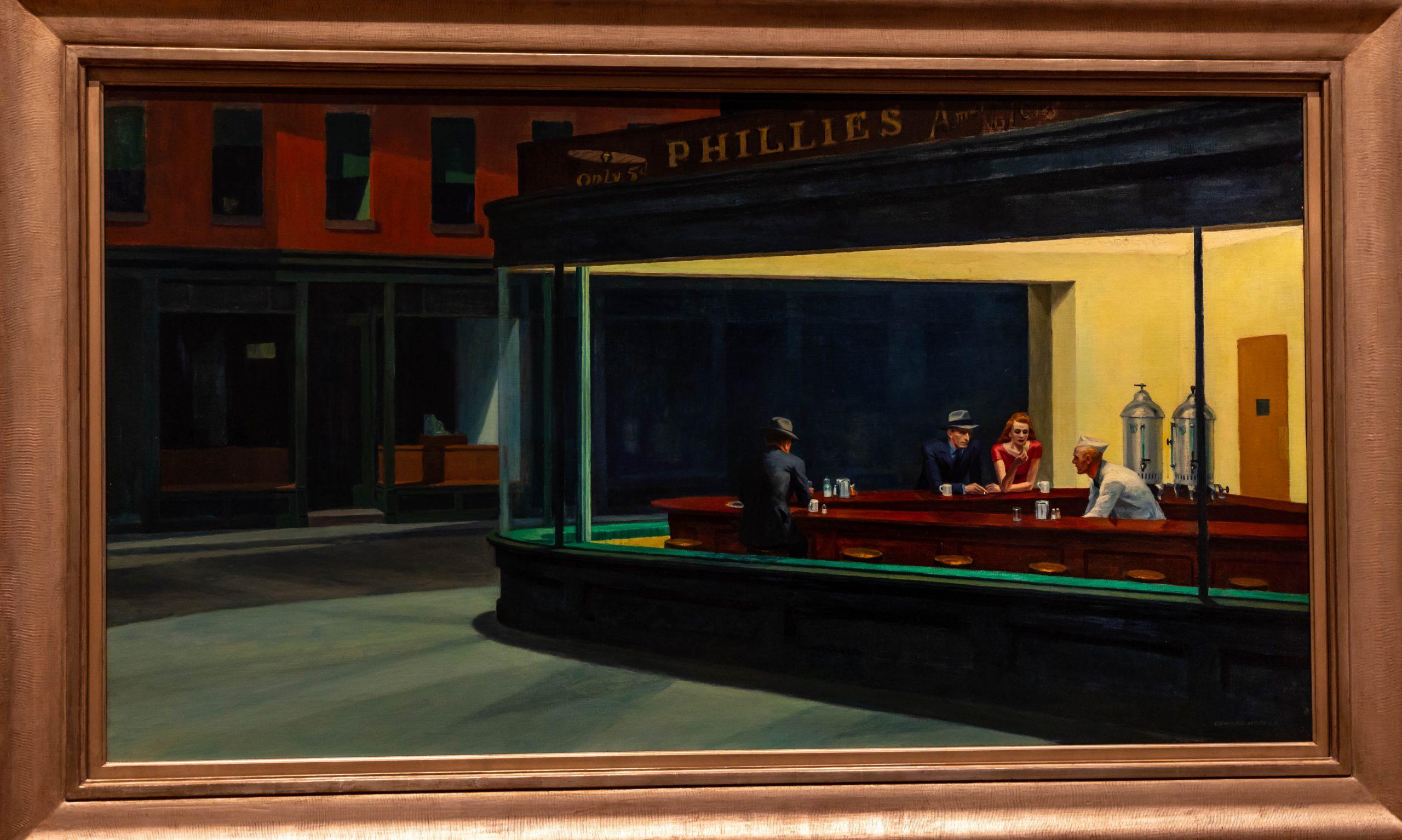 Nighthawks The Art Institute of Chicago in Chicago, Illinois by Annie Fairfax