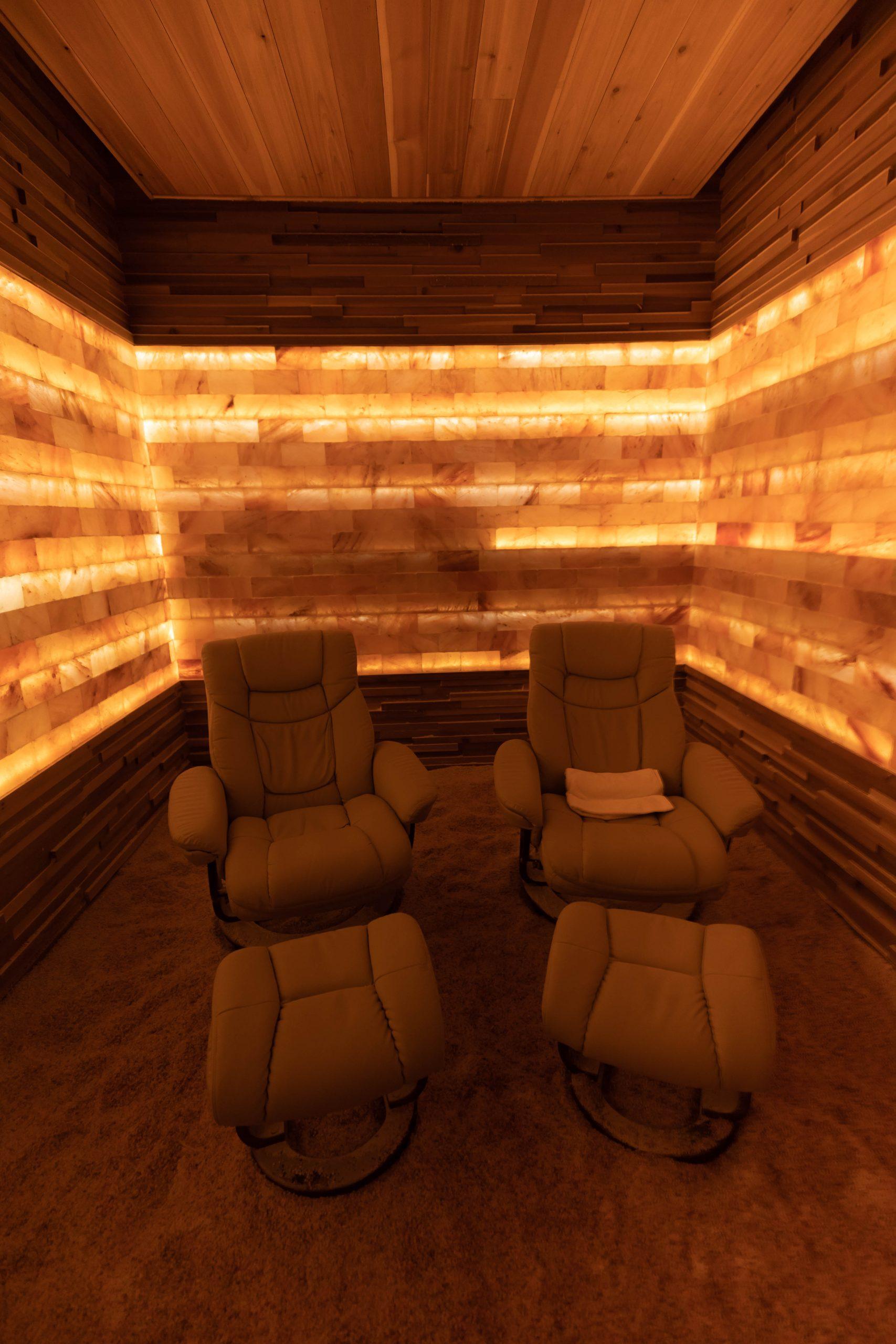 Himalayan Salt Therapy Room at Waldorf Astoria Orlando Hotel Orlando Florida by Annie Fairfax