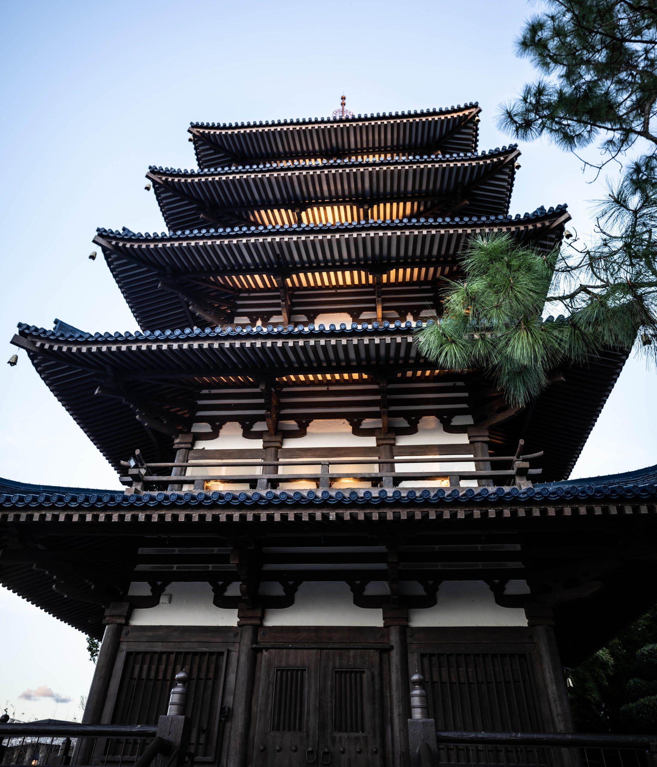Pagoda Japan Epcot Walt Disney World by Luxury Travel Writer and Photographer Annie Fairfax