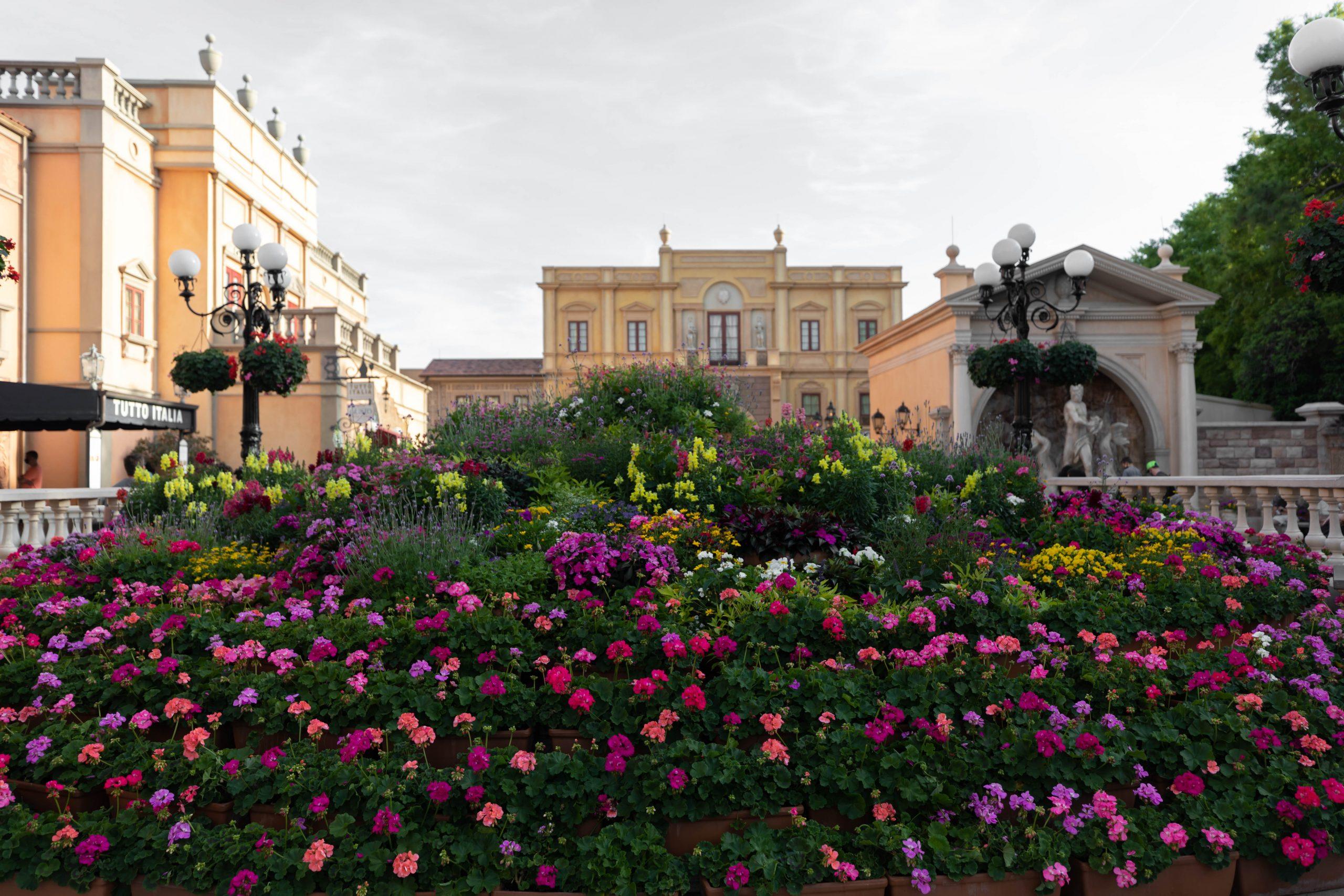 Italy Inside Epcot World Showcase Epcot International Flower & Garden Festival by Annie Fairfax