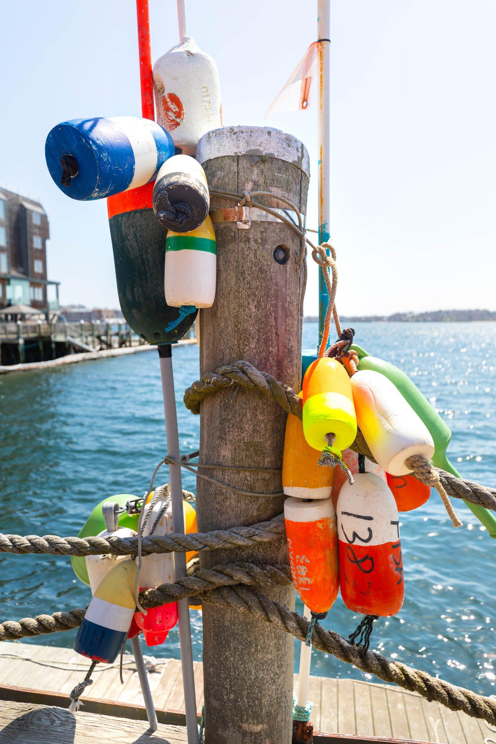 A Visit to Newport, Rhode Island Oceanside Buoys by Annie Fairfax