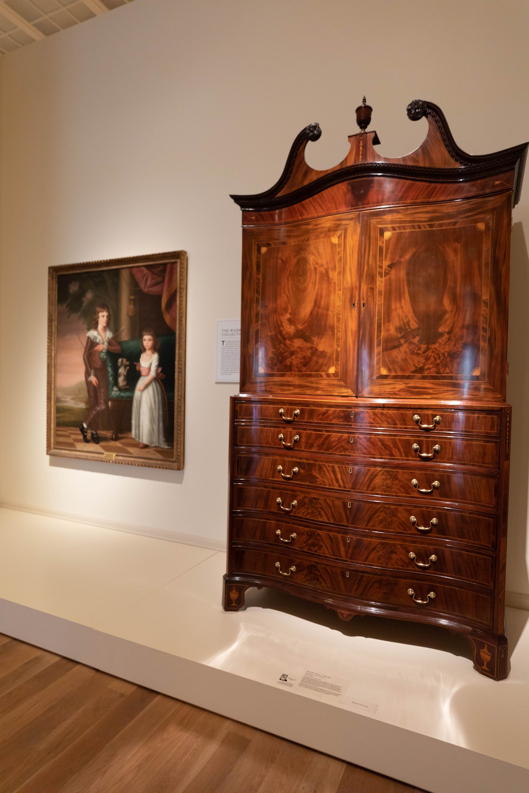 Antique Charleston Cabinet at The Gibbes Museum of Art in Charleston South Carolina Photographed by Annie Fairfax