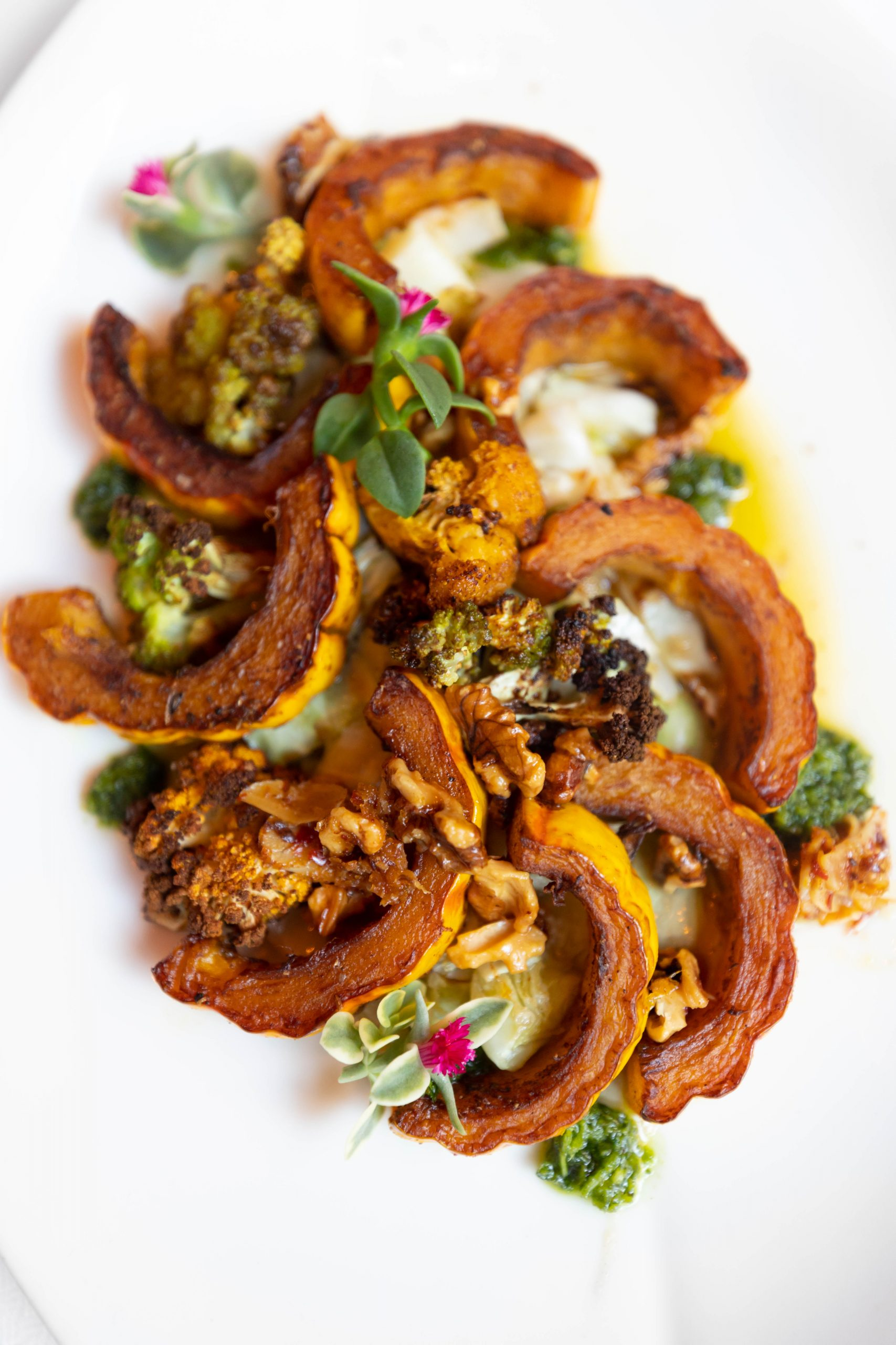 Shawarma Spiced Vegetables at Charleston Grill from Chef Michelle Weaver Inside Belmond Charleston Place Luxury Hotel Written & Photographed by Annie Fairfax