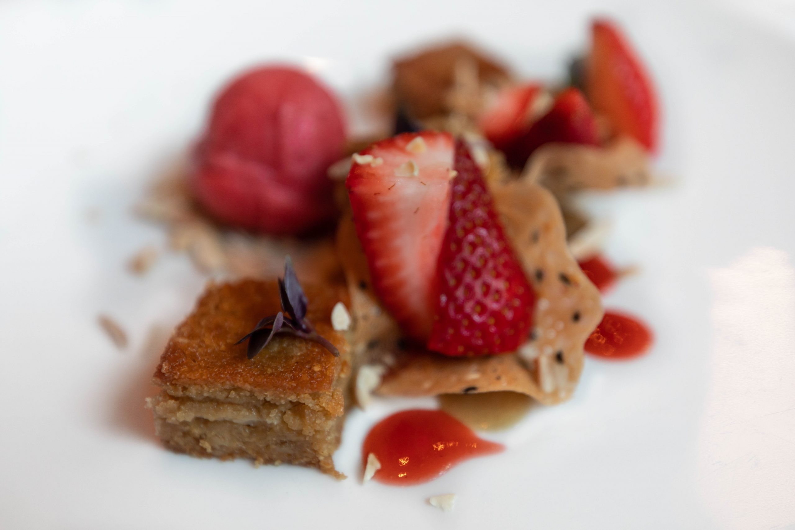 Berry Dessert at Charleston Grill from Chef Michelle Weaver Inside Belmond Charleston Place Luxury Hotel Written & Photographed by Annie Fairfax