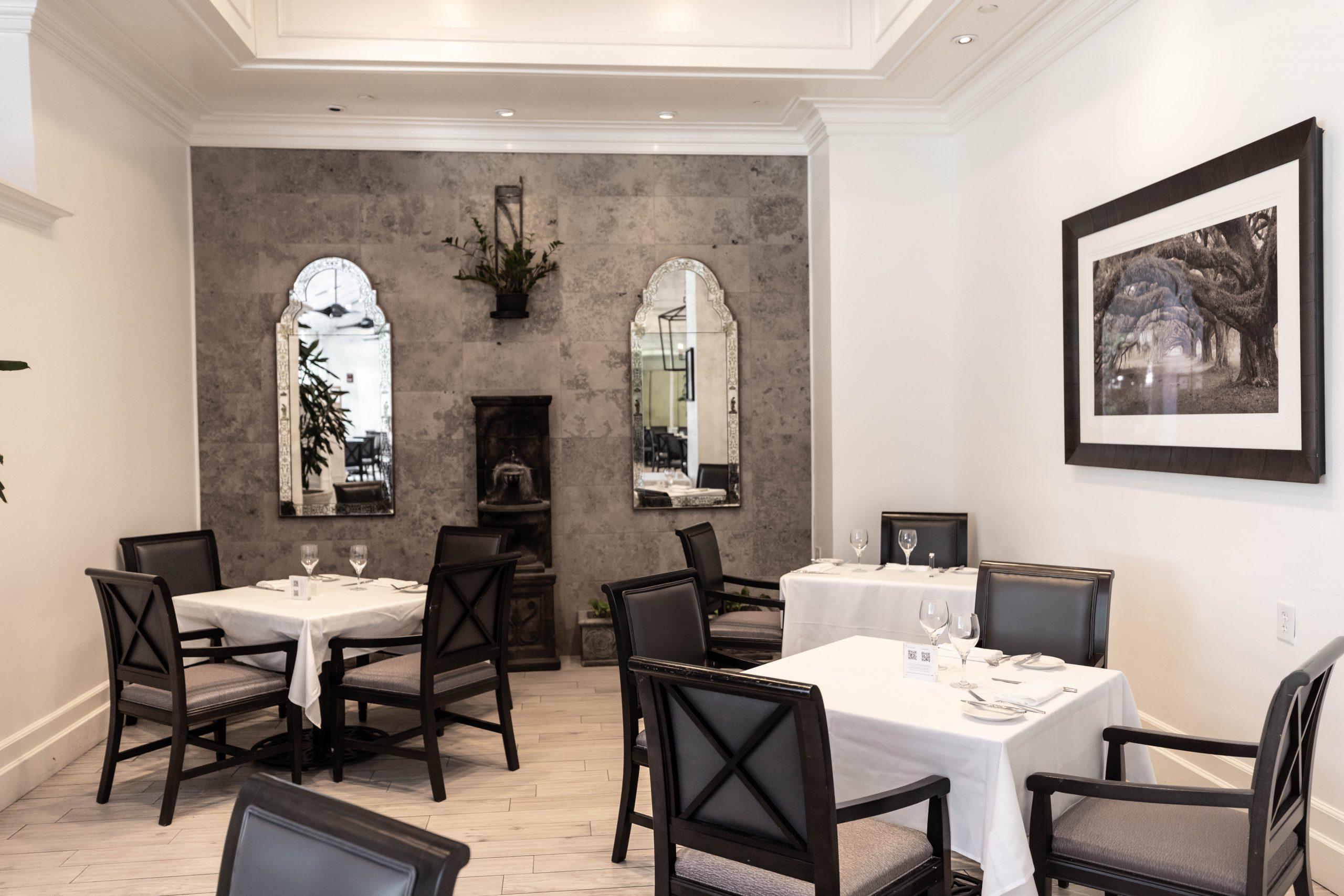 Décor at Palmetto Café Inside Belmond Charleston Place Luxury Hotel Written & Photographed by Annie Fairfax