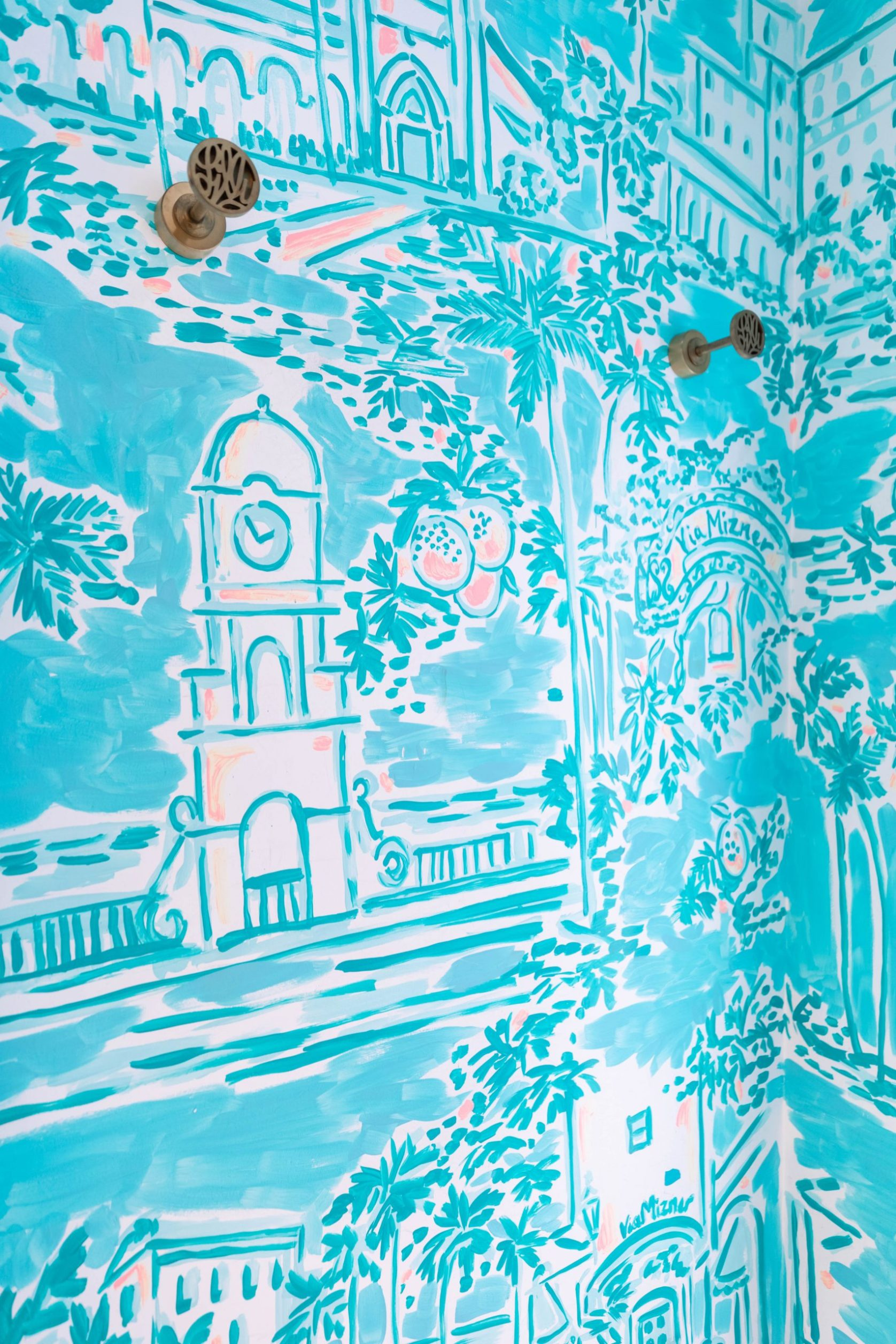 Disney Springs Orlando Florida Lilly Pulitzer Store Handpainted Dressing Room Photographed by Annie Fairfax