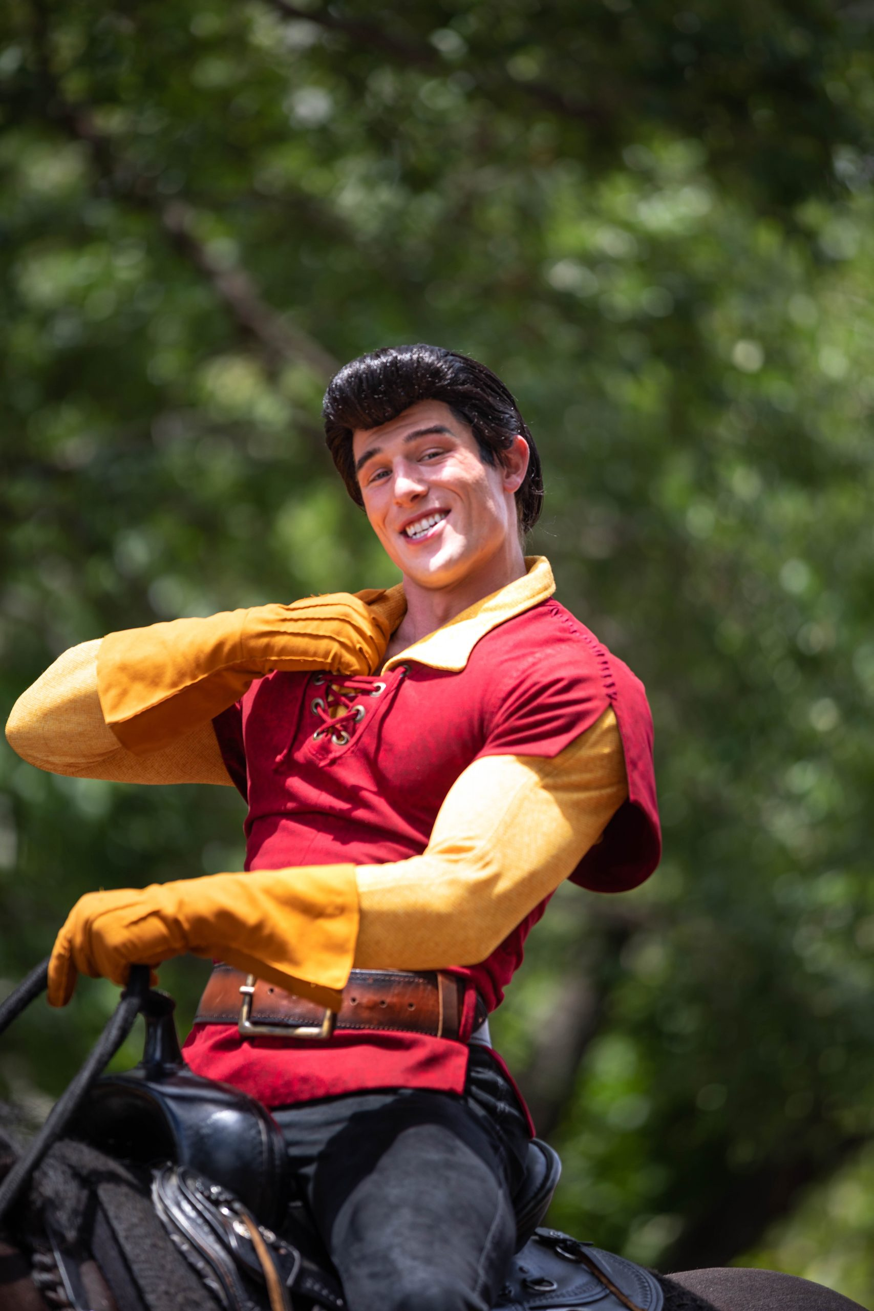Photograph of Disney Villain Gaston at Walt Disney World Photographed by Luxury Travel Writer Annie Fairfax