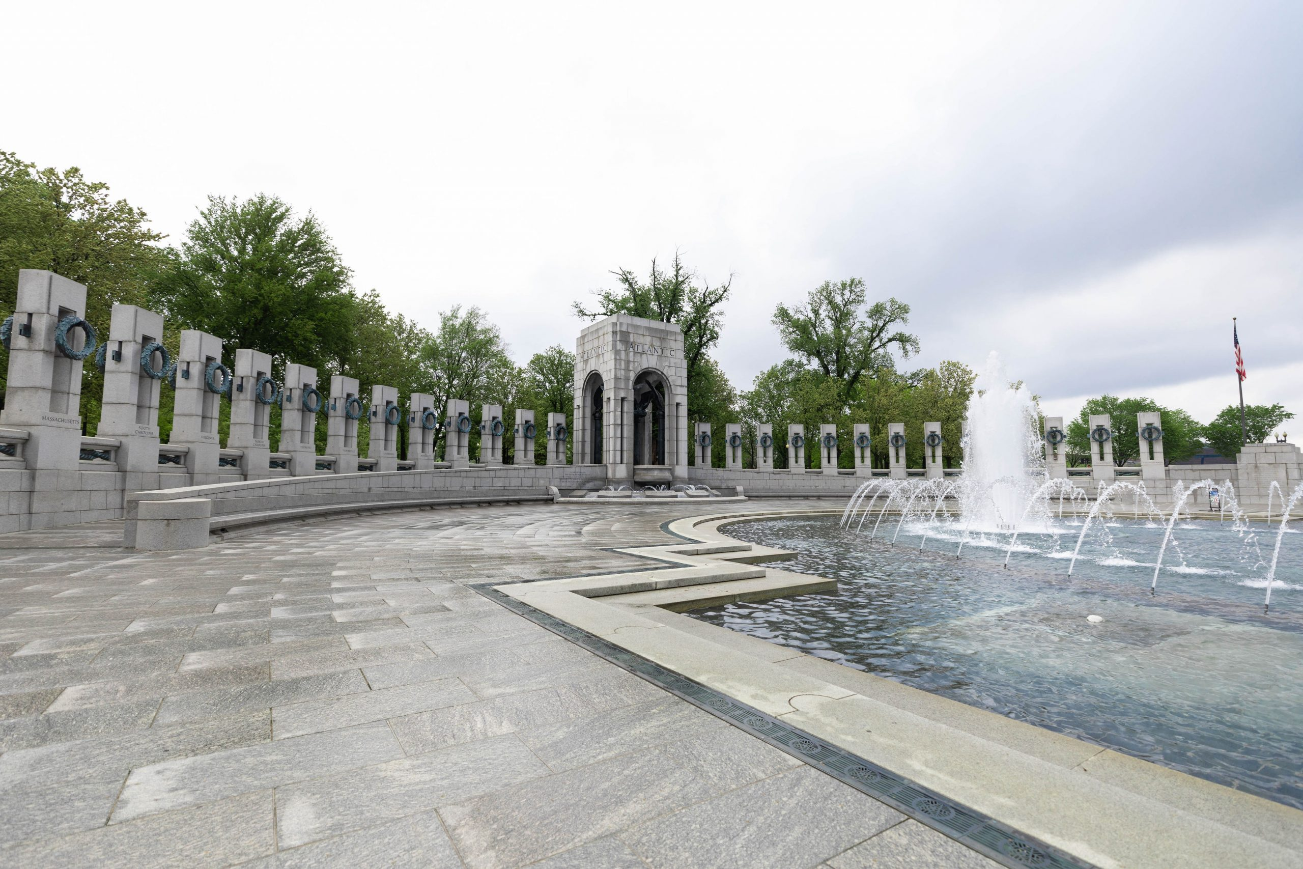 World War II Memorial National Mall in Washington DC Photographed by Luxury Travel Writer Annie Fairfax