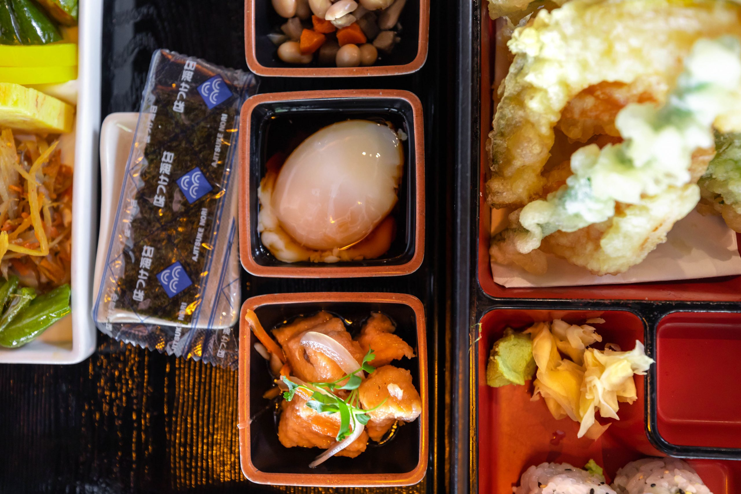 Rükuya Japanese, Chinese Thai Restaurant Bento Box Lunch in Georgetown Washington DC photographed by Luxury Travel Writer Annie Fairfax