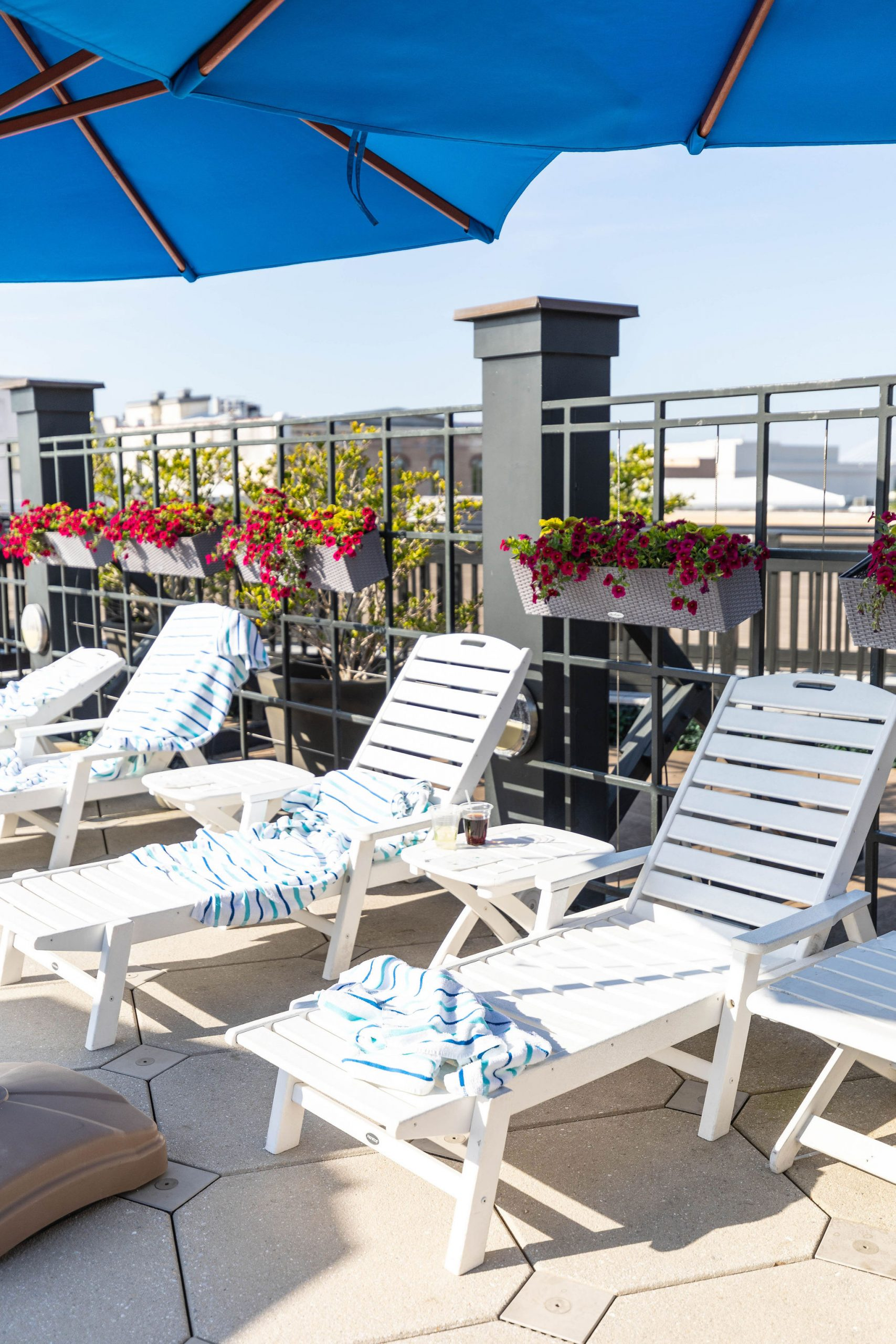 Rooftop Poolside Restaurant at Belmond Charleston Place Photographed by Annie Fairfax