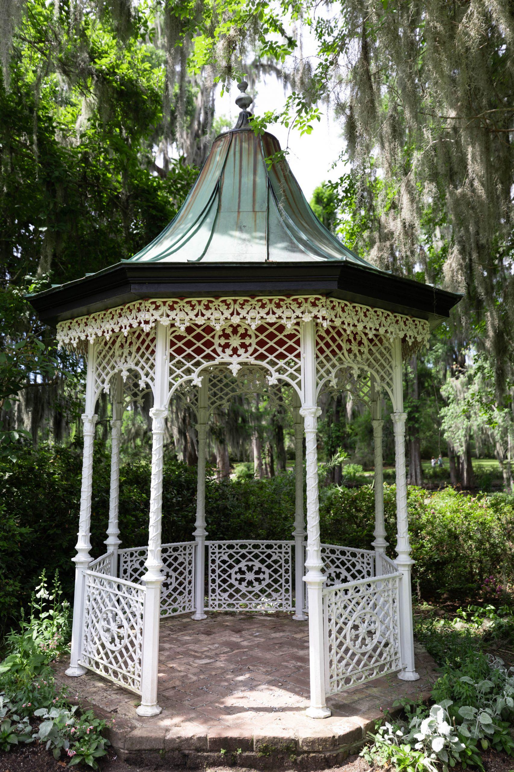 Gazebo at Magnolia Plantation & Gardens Written & Photographed by Annie Fairfax