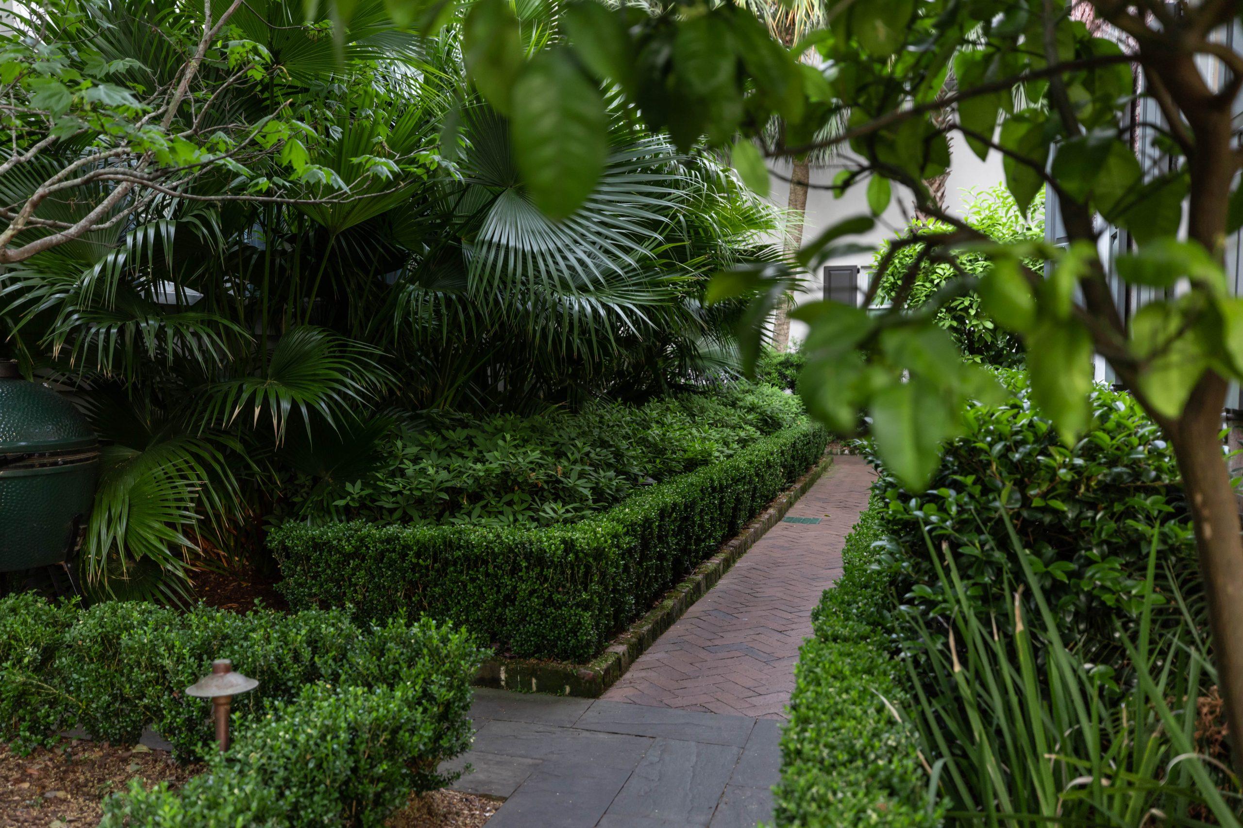Gardens of Zero George Restaurant + Bar in Charleston South Carolina Photographed and Written by Luxury Travel Writer Annie Fairfax