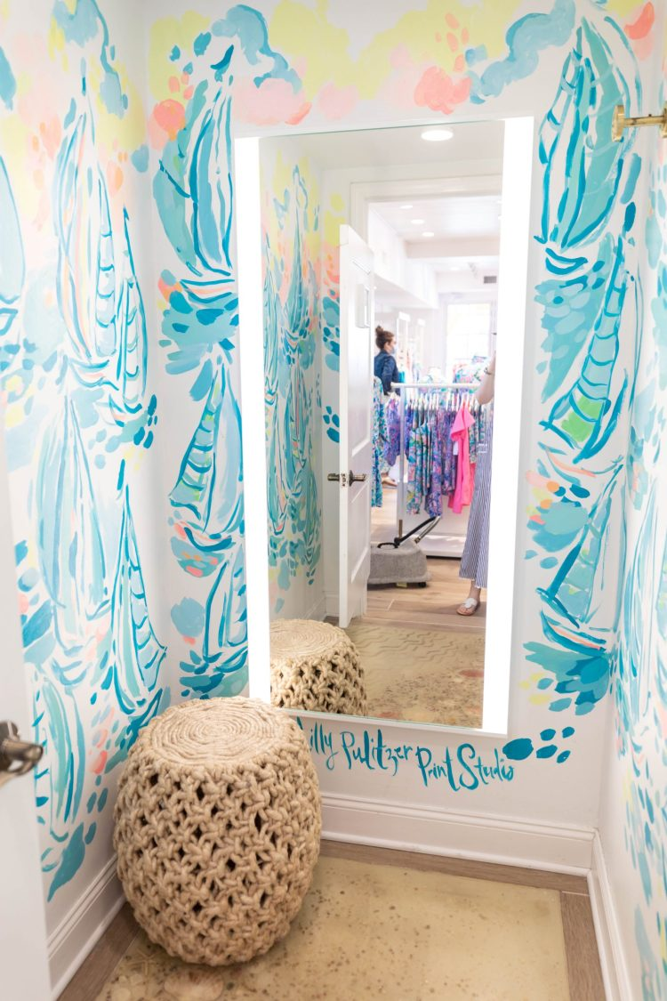 The Prettiest Lilly Pulitzer Dressing Rooms