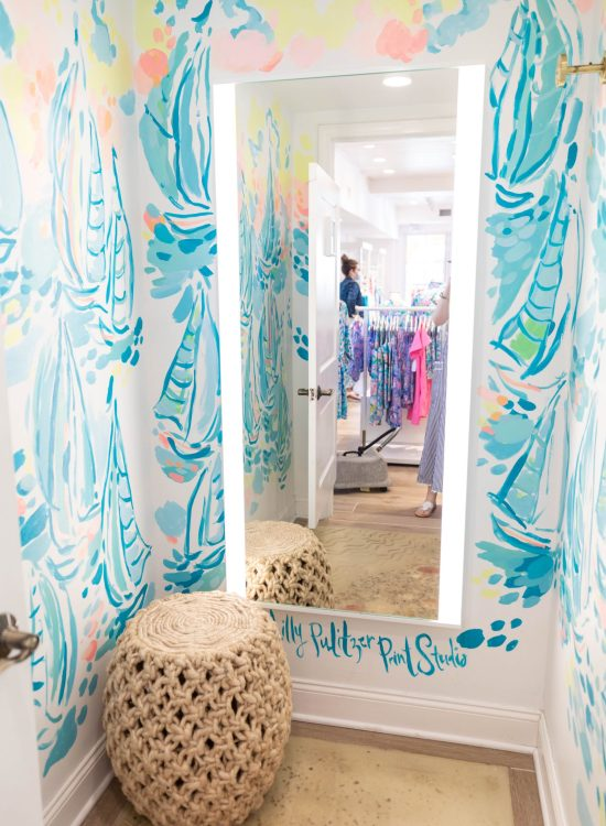 Watch Hill Rhode Island Lilly Pulitzer Store Handpainted Dressing Room Photographed by Annie Fairfax