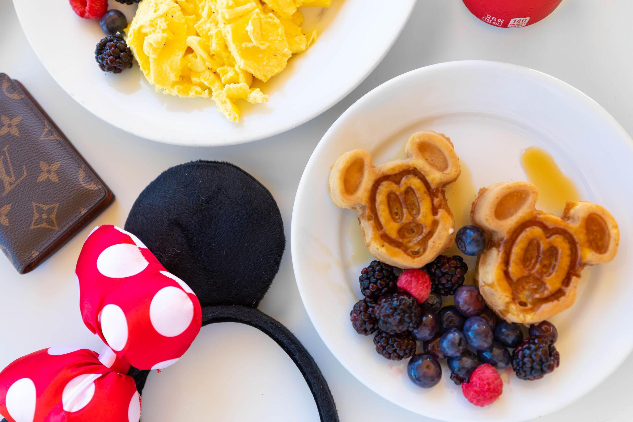 Breakfast at Tomorrowland Terrace Restaurant by Annie Fairfax Mickey Mouse Ears and Mickey Waffles Walt Disney World