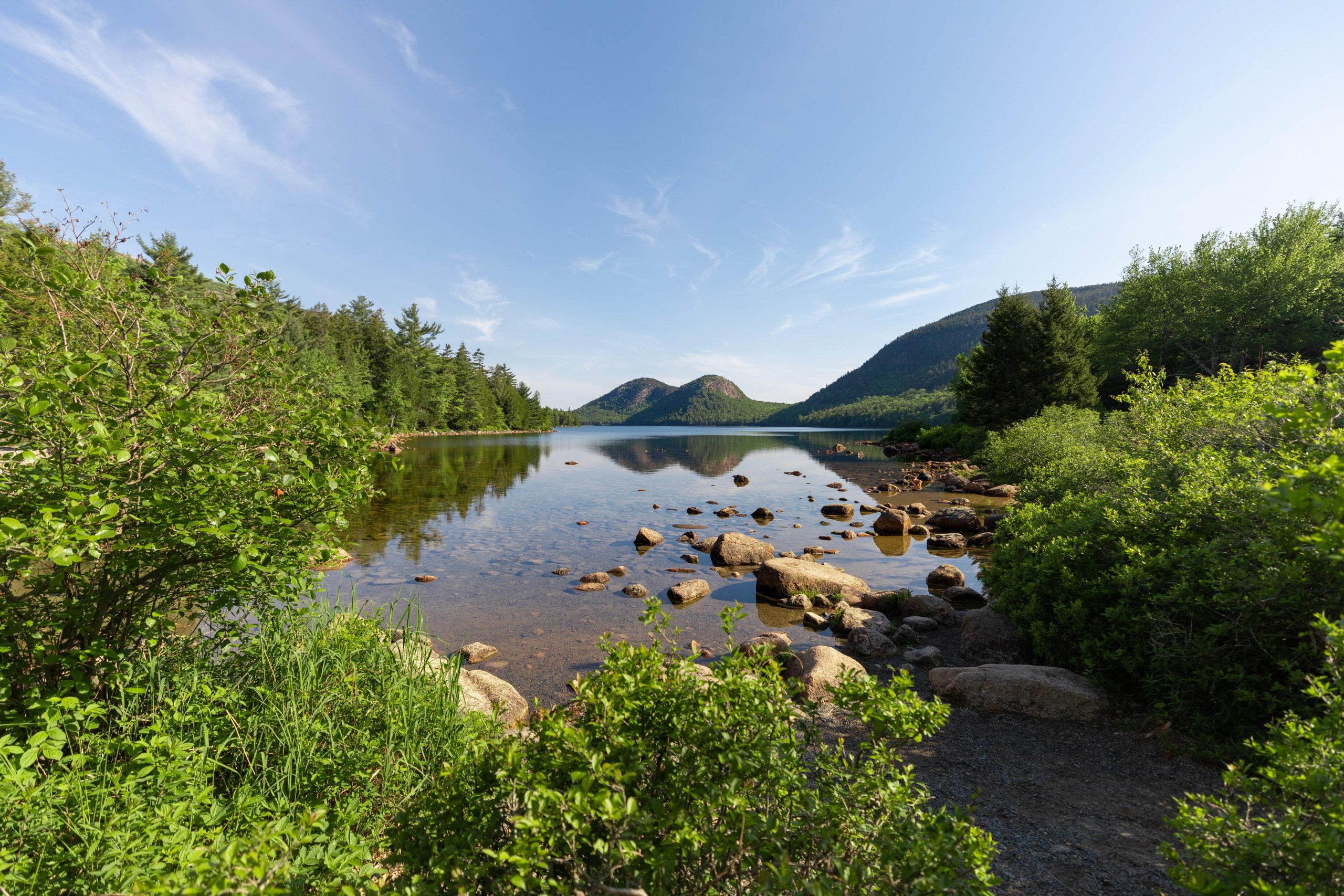 The Bubbles Hike Jordan Pond Access in Acadia National Park Mount Desert Island near Bar Harbor Maine Written and Photographed by Luxury Travel Writer Annie Fairfax