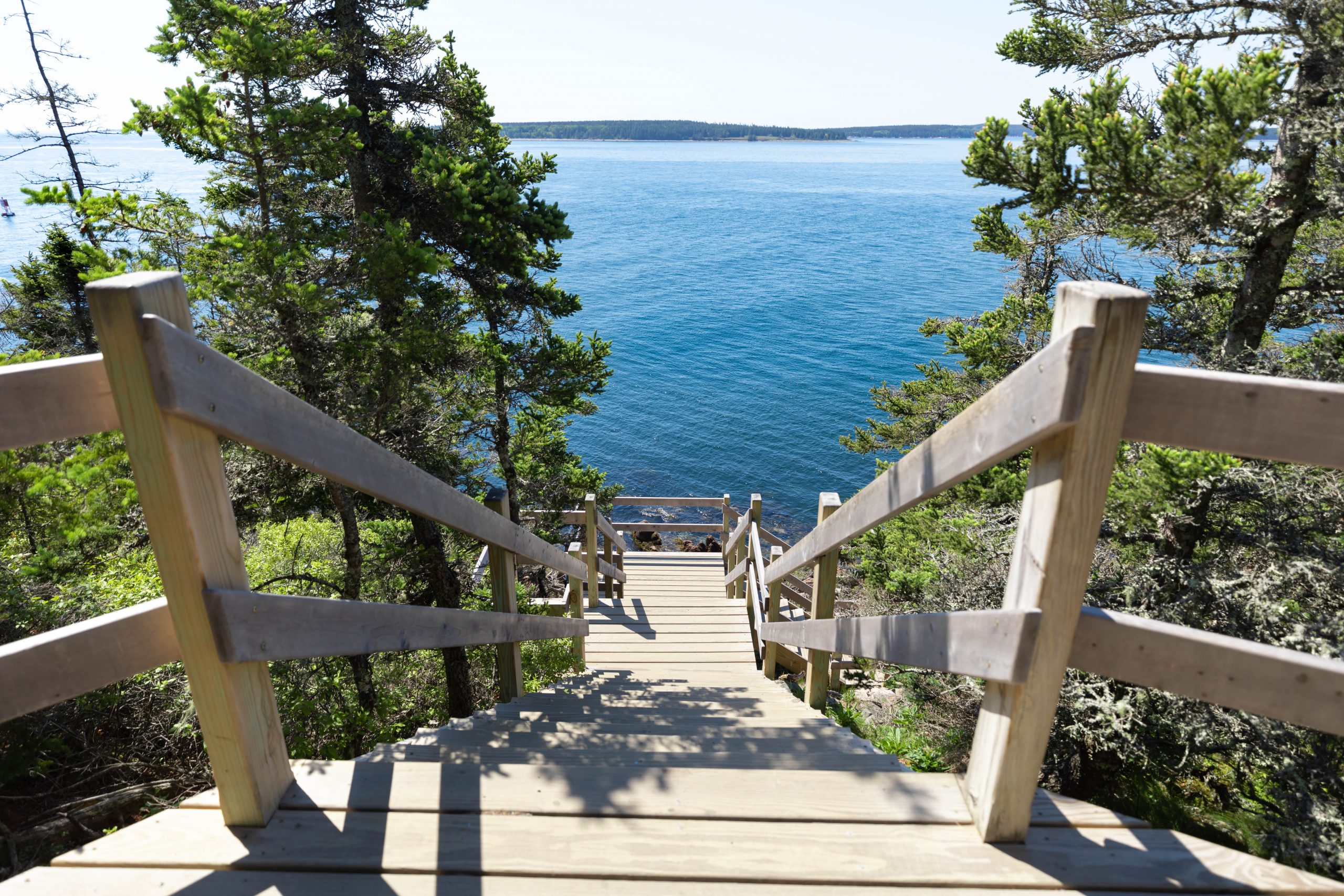 Path to Bass Harbor Head Lighthouse in Acadia National Park Mount Desert Island near Bar Harbor Maine Written and Photographed by Luxury Travel Writer Annie Fairfax