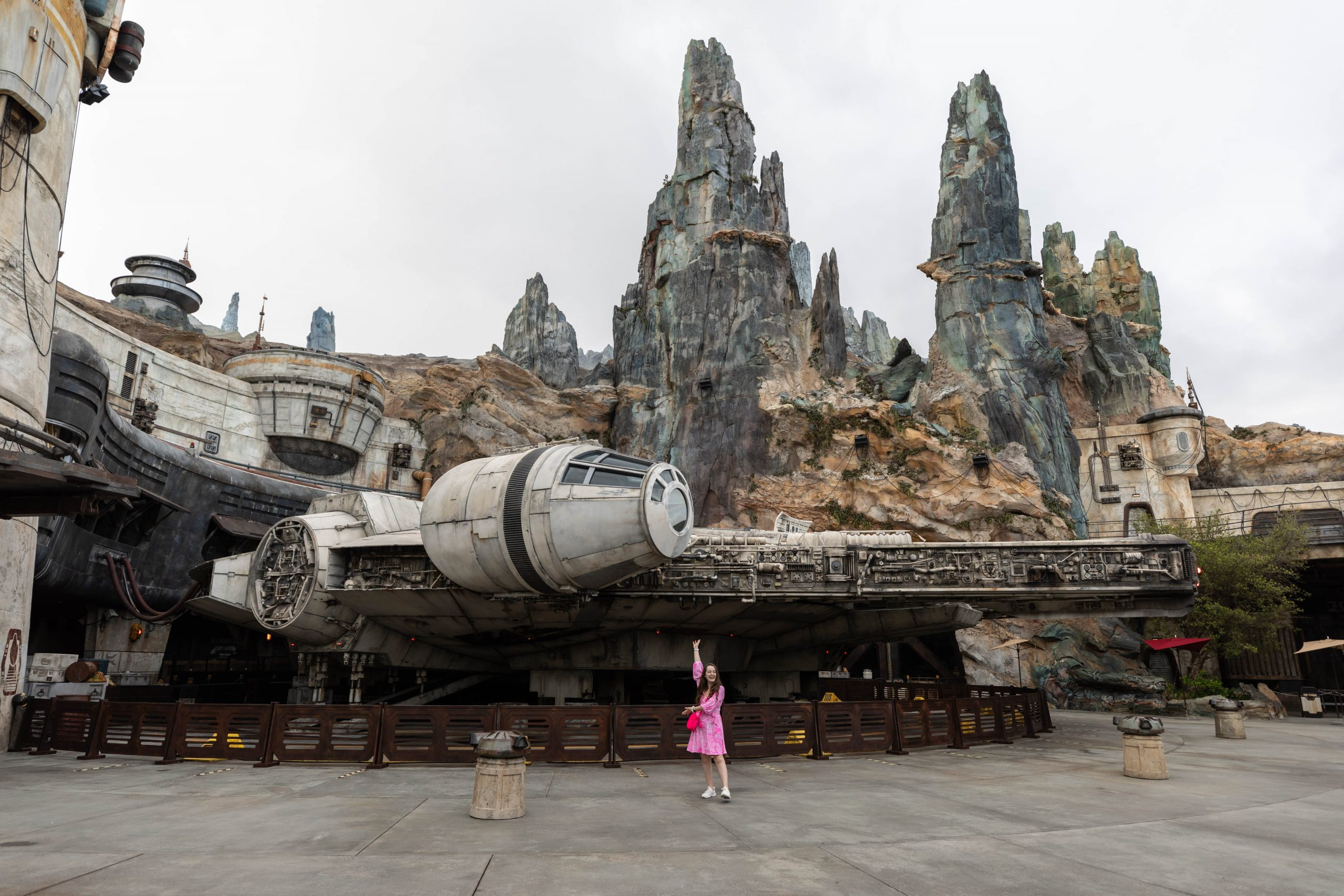 Millenium Falcon Lilly Pulitzer Dress at Private Tour of Galaxy's Edge Hollywood Studio Walt Disney World Annie Fairfax