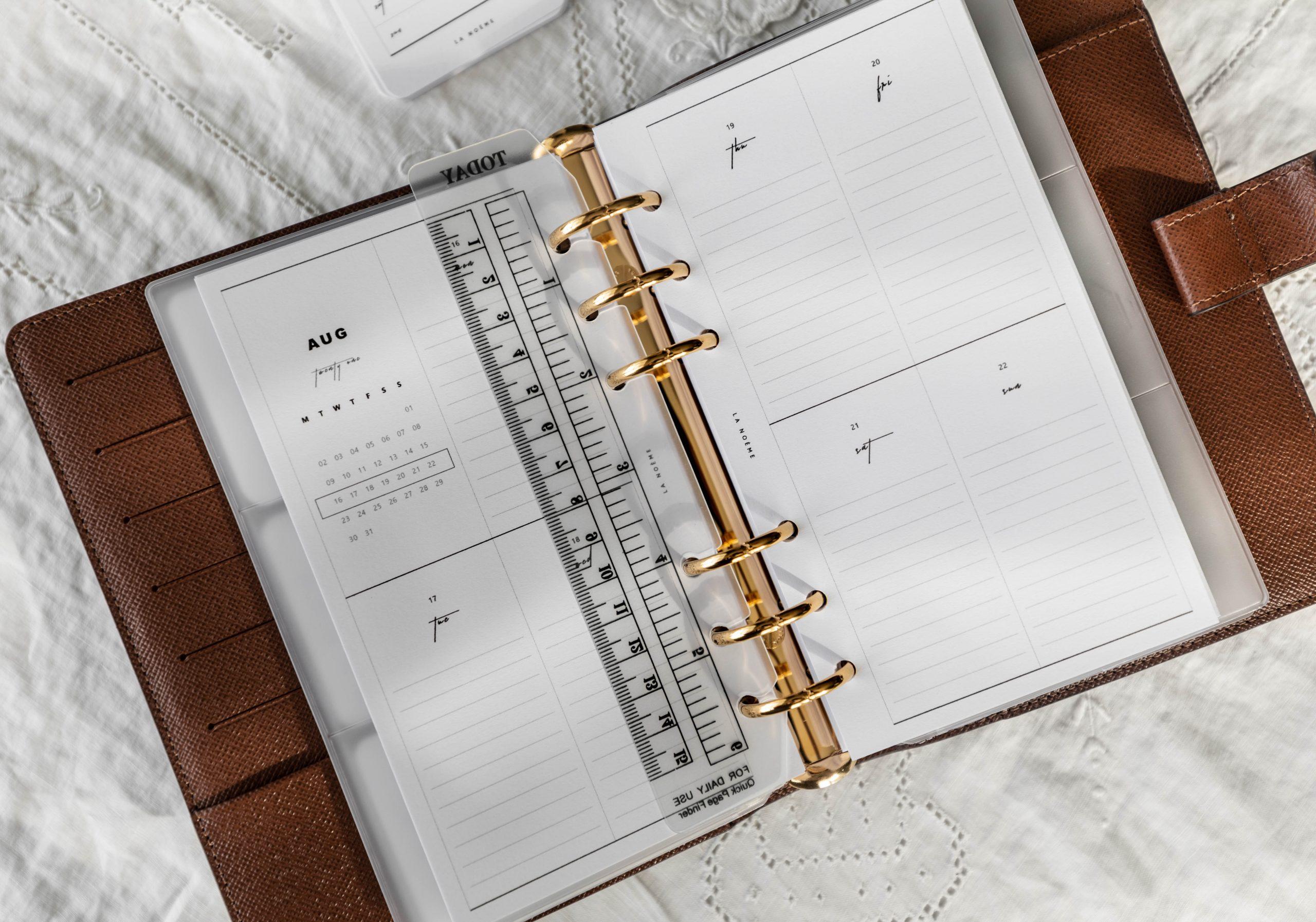 Louis Vuitton Agenda Setup and Organization by Annie Fairfax