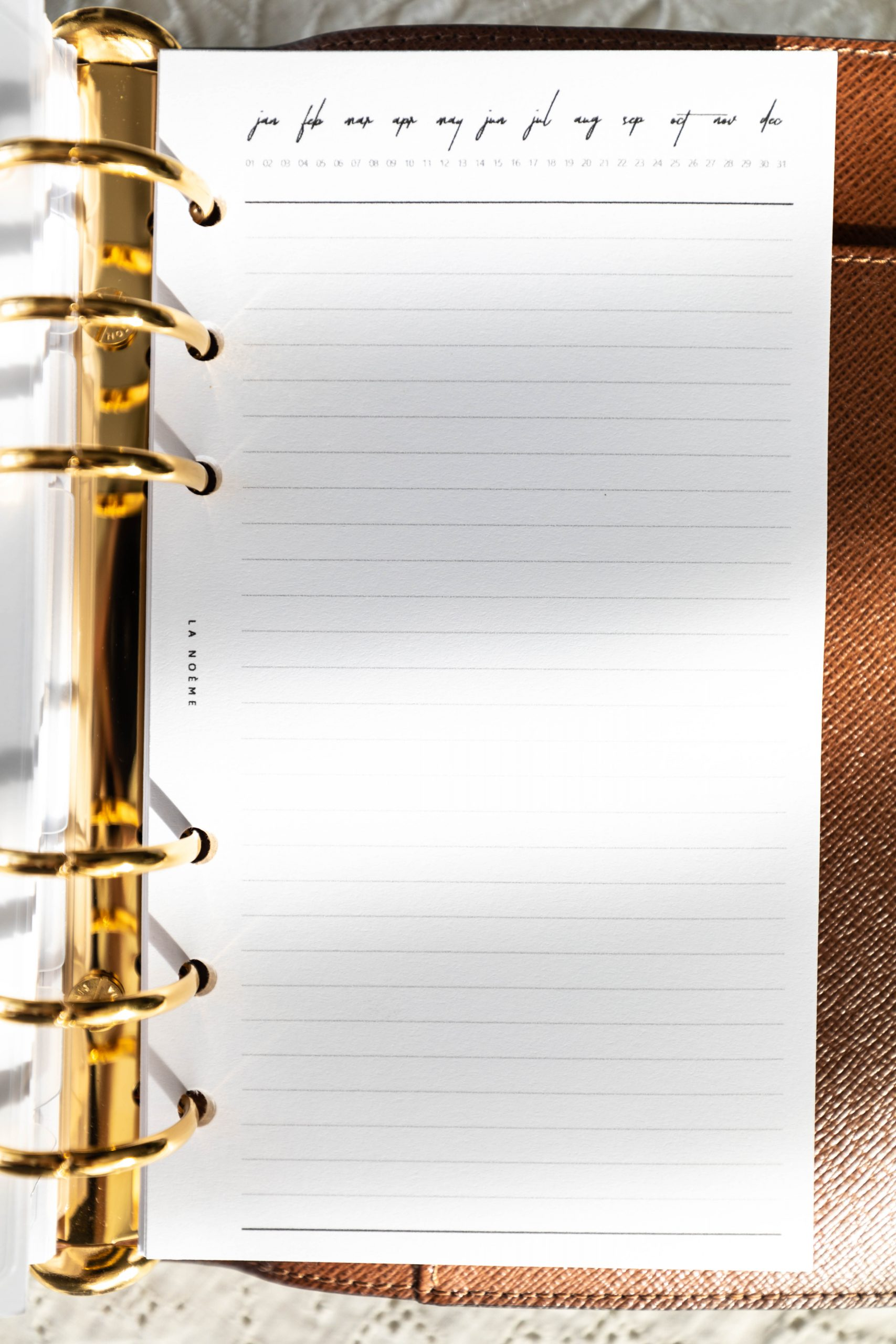 Customizable Lined Note Pages Louis Vuitton Agenda Setup and Organization by Annie Fairfax