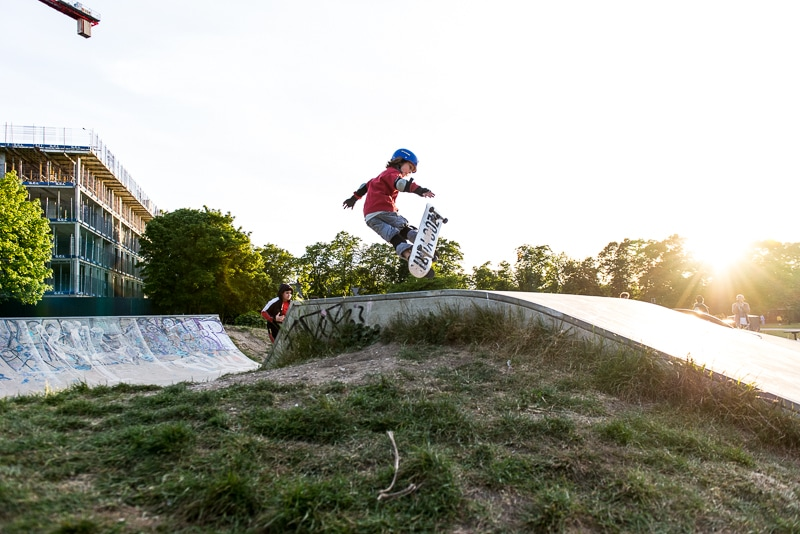 Skatepark photography in West London, before the edit