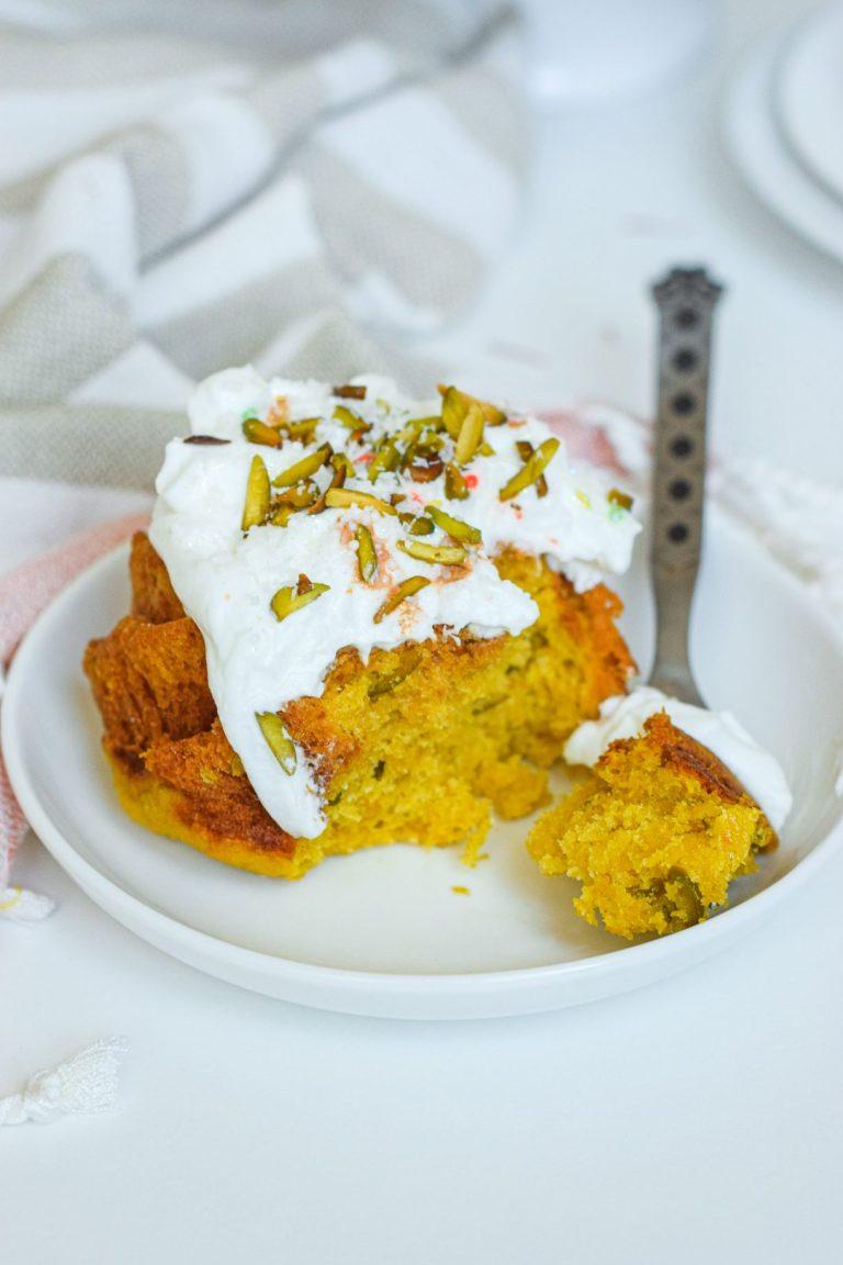 Orange Pistachio Safforn Cake