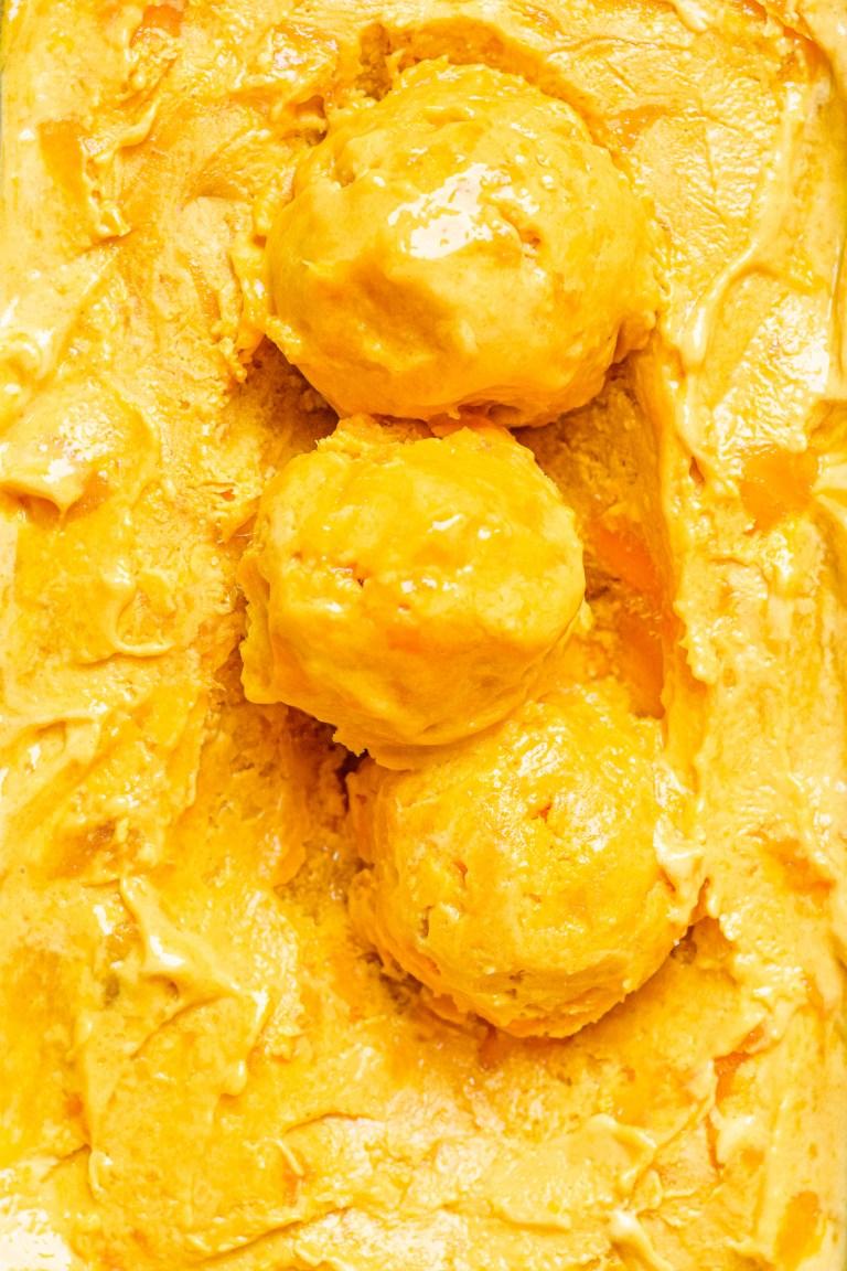 No Churn Alphonso Mango Ice Cream