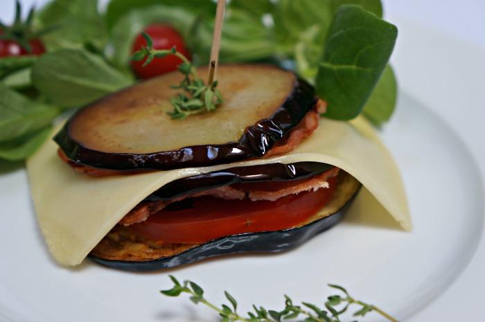 Millefeuille aubergines Leerdammer
