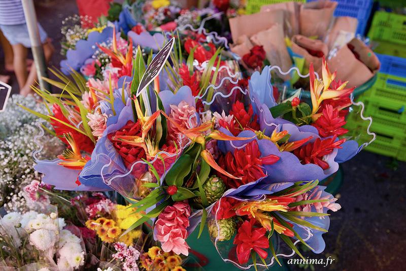 Les couleurs des marchais réunionnais.