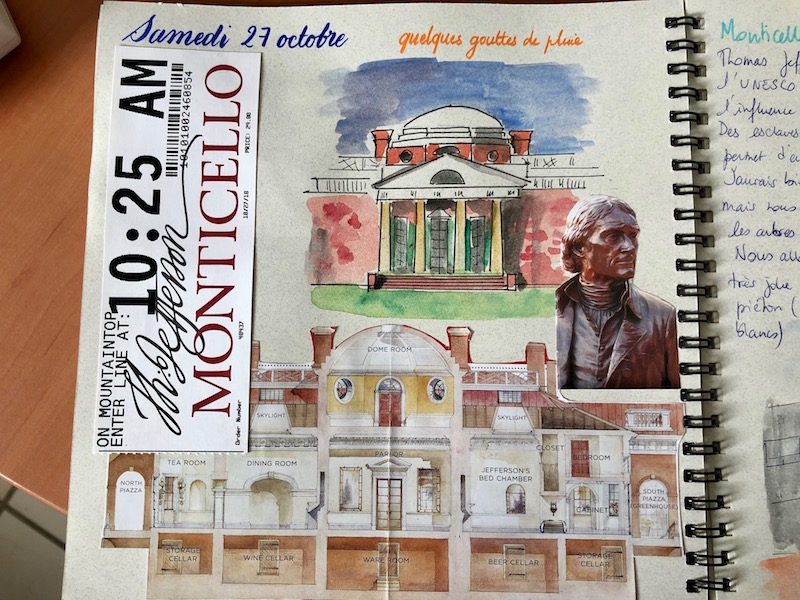 Carnet de voyage Monticello