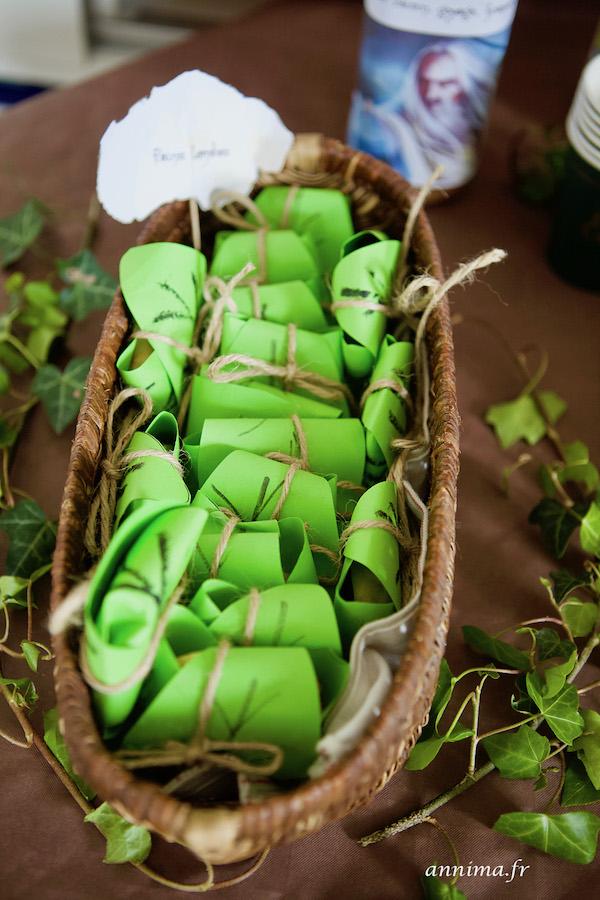 pains lembas elfique déco anniversaire Seigneur des Anneaux