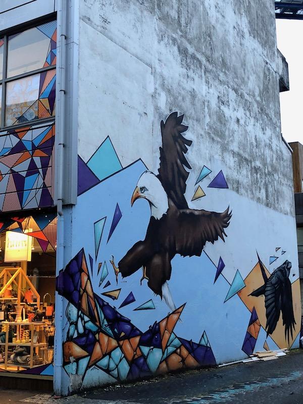 Street art et façades colorées de Reykjavik.