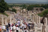 Peak hour down the main street, Ephesus