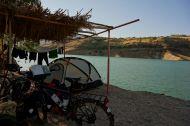 Camping and swimming next to Ataturk Dam