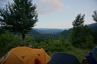 Wild camping with a view