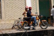 The new craze in Uzbekistan - helmets